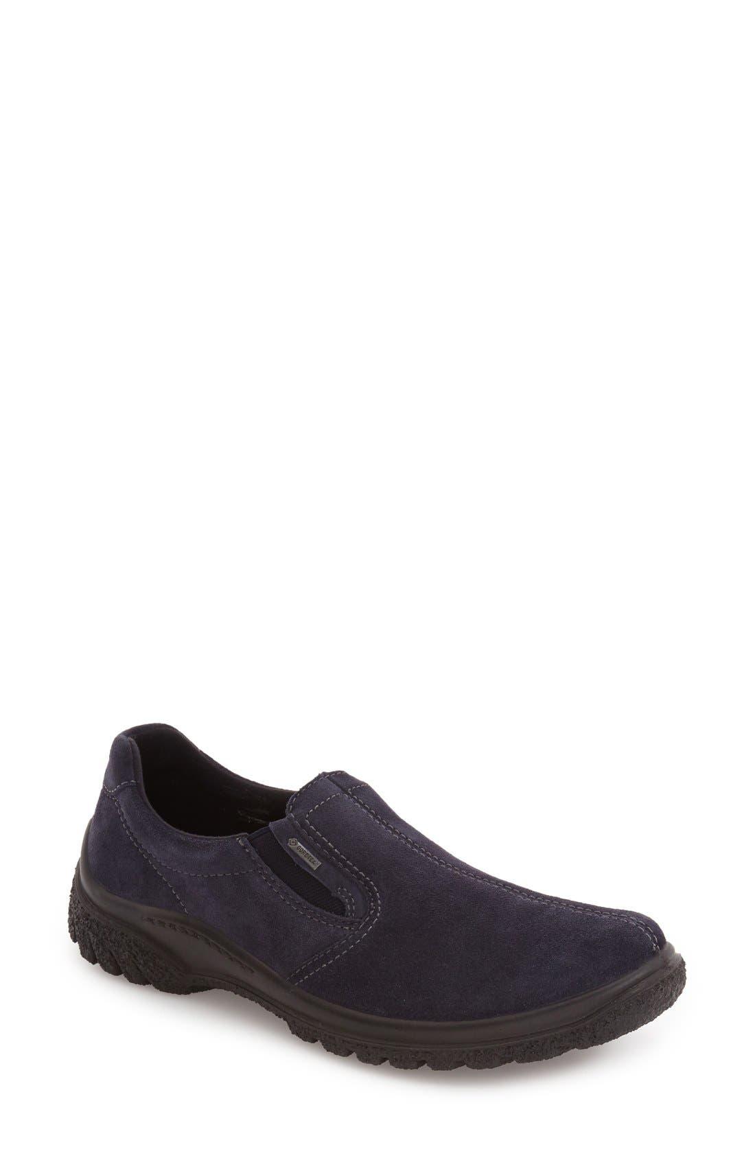 Parson Waterproof Gore-Tex<sup>®</sup> Slip-On Sneaker,                         Main,                         color, NAVY SUEDE