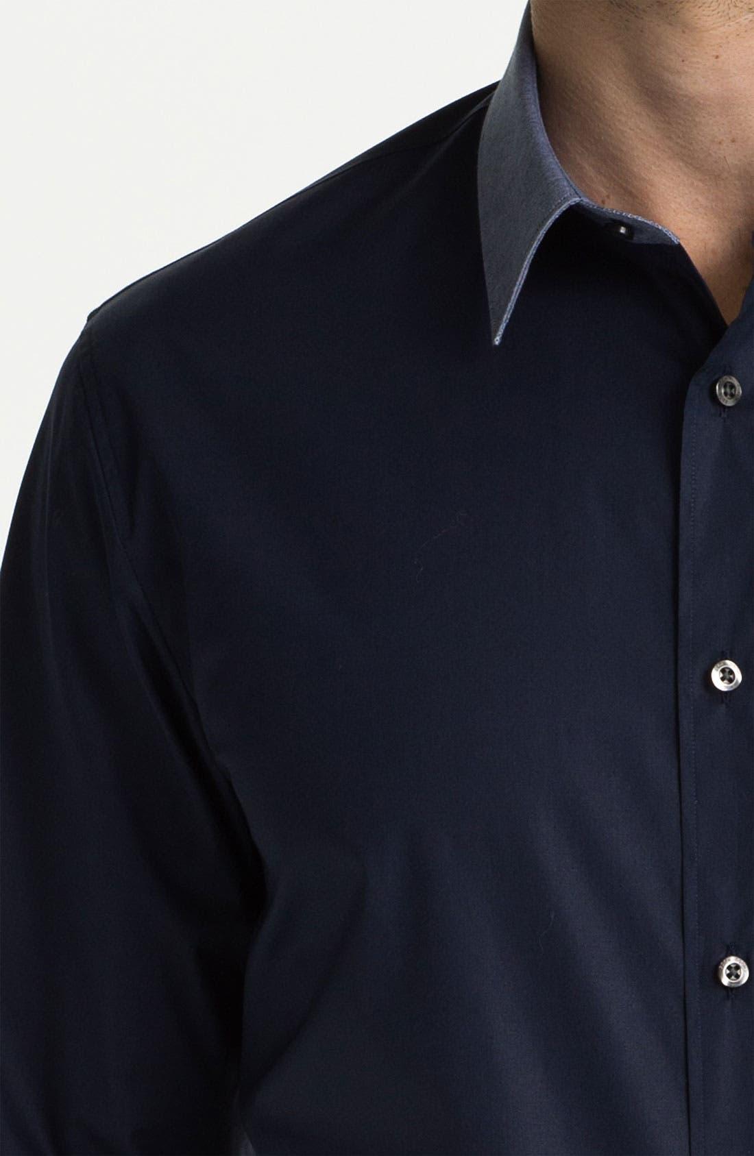 HUGO 'Elisha' Trim Fit Sport Shirt,                             Alternate thumbnail 3, color,                             464