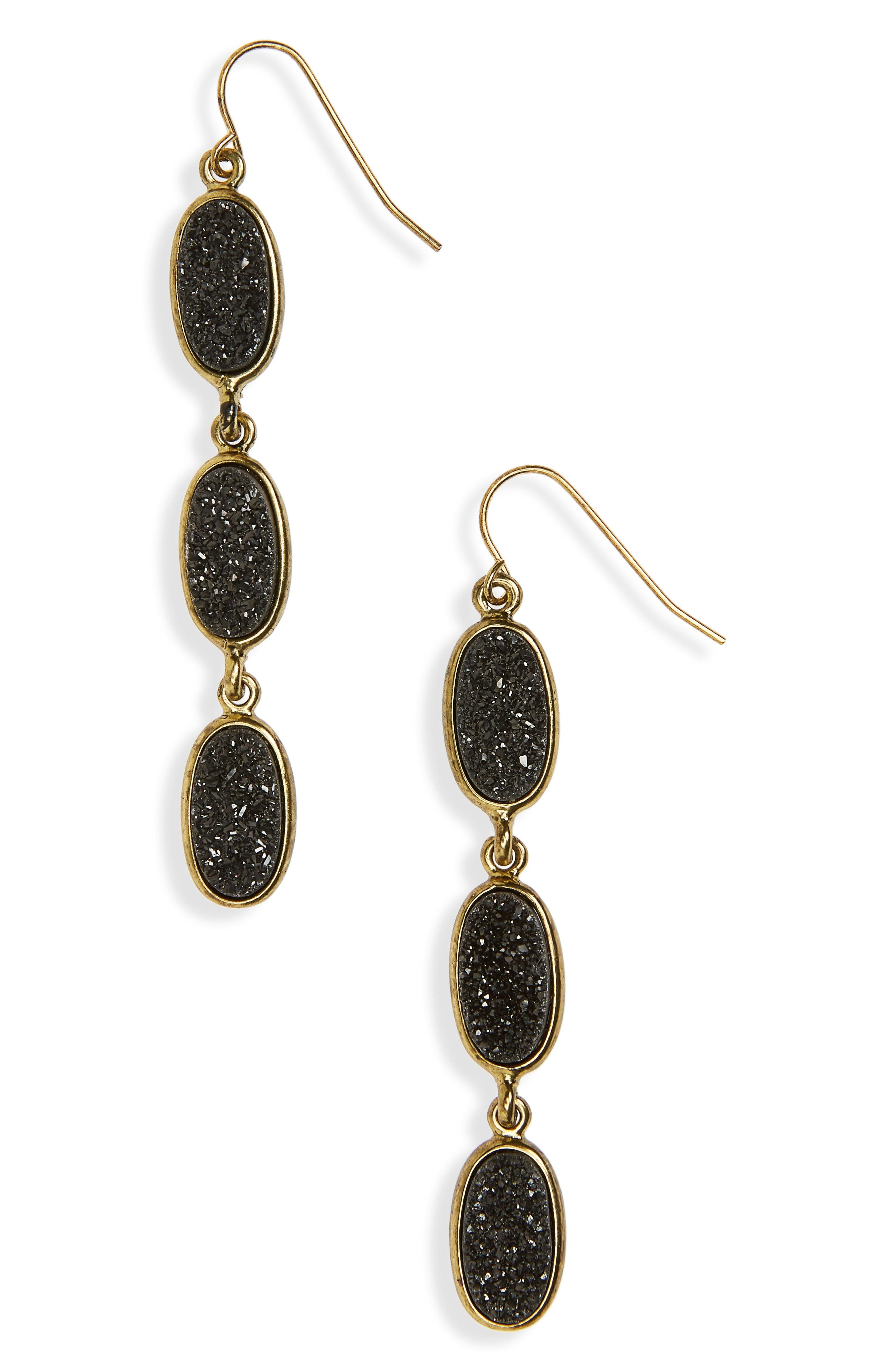 Drusy Drop Earrings,                             Main thumbnail 1, color,                             001
