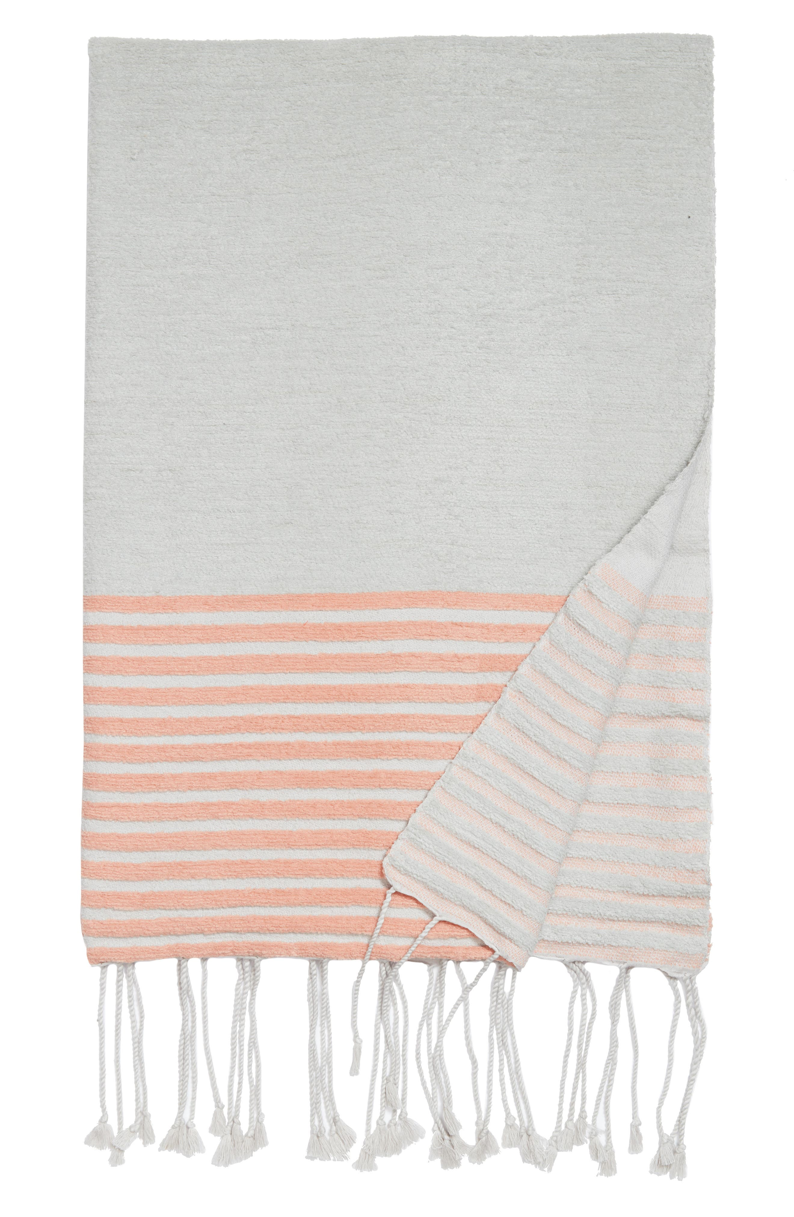 Hammam Stripe Throw,                         Main,                         color, 020