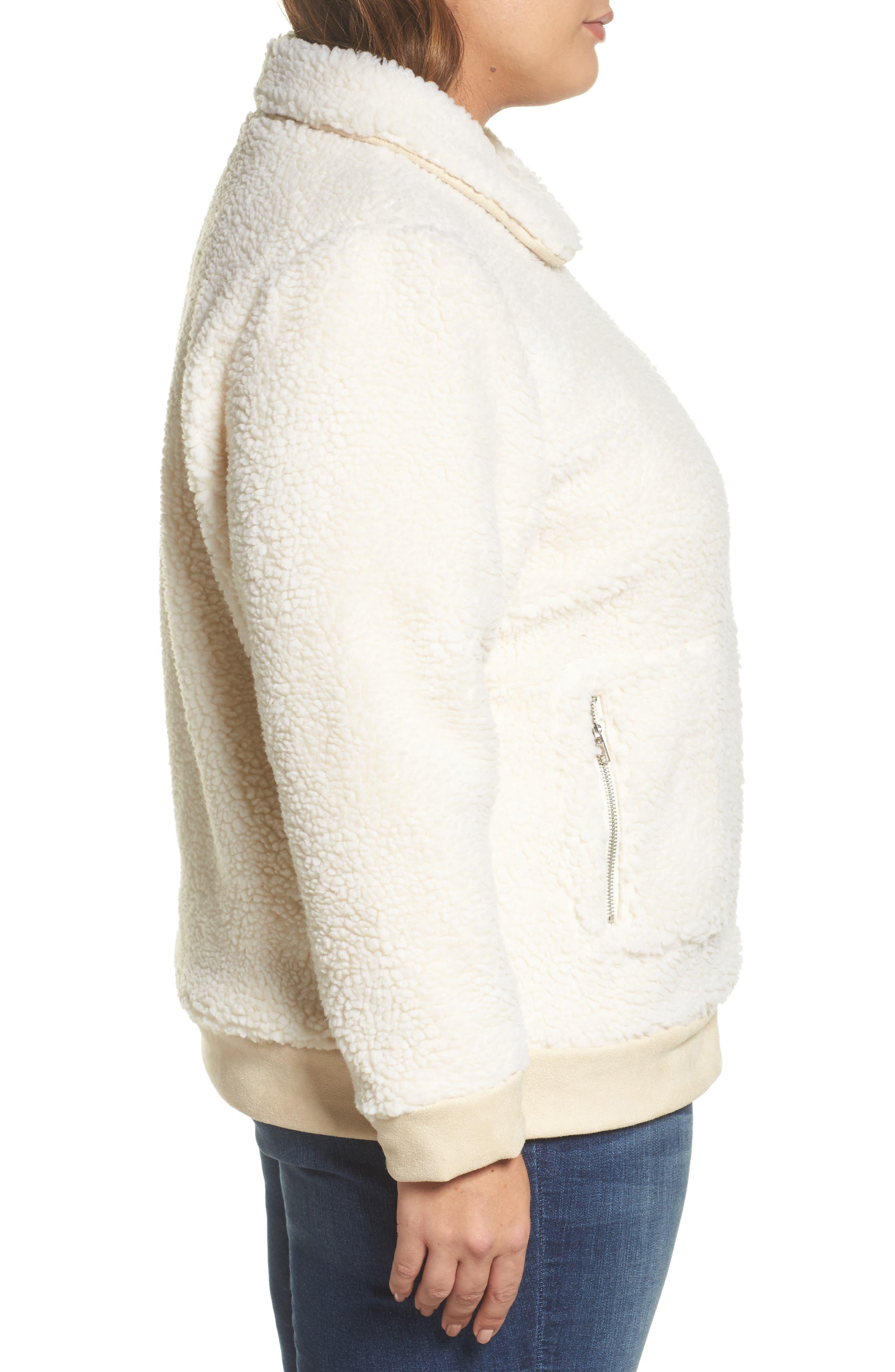 High Pile Fleece Jacket,                             Alternate thumbnail 3, color,                             100