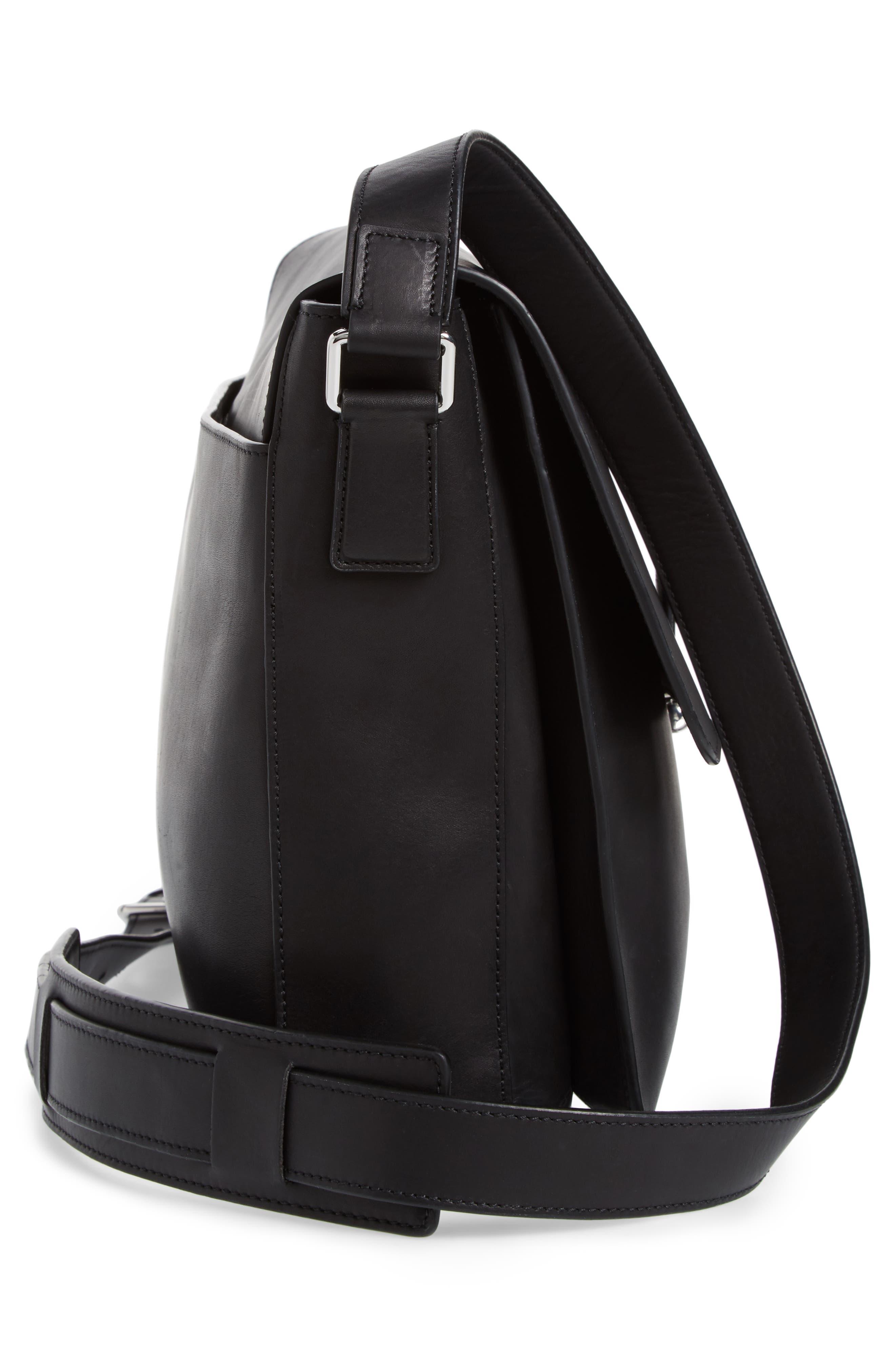 Brayton Leather Messenger Bag,                             Alternate thumbnail 5, color,