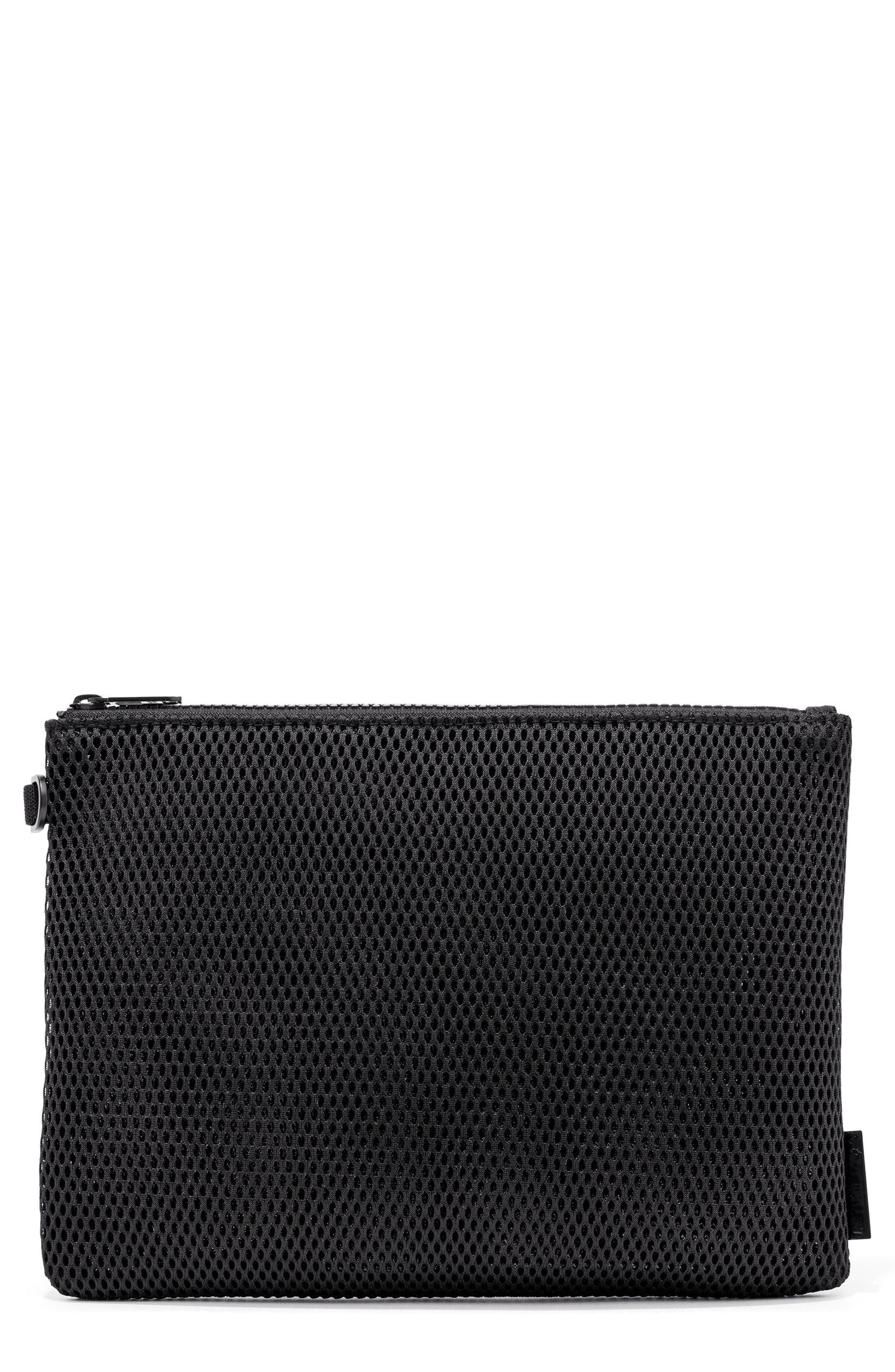 Small Parker Mesh Pouch,                         Main,                         color, ONYX