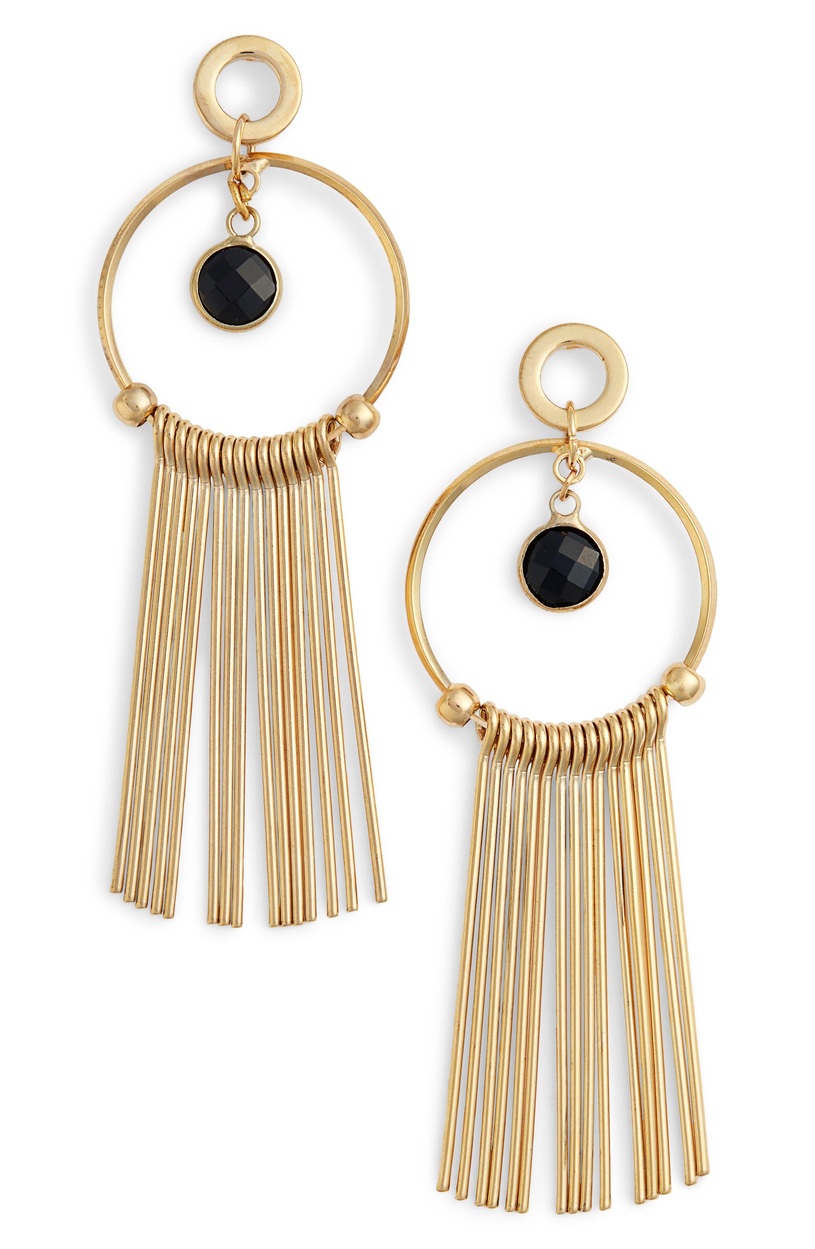 Lilia Spike & Crystal Hoop Earrings,                         Main,                         color,