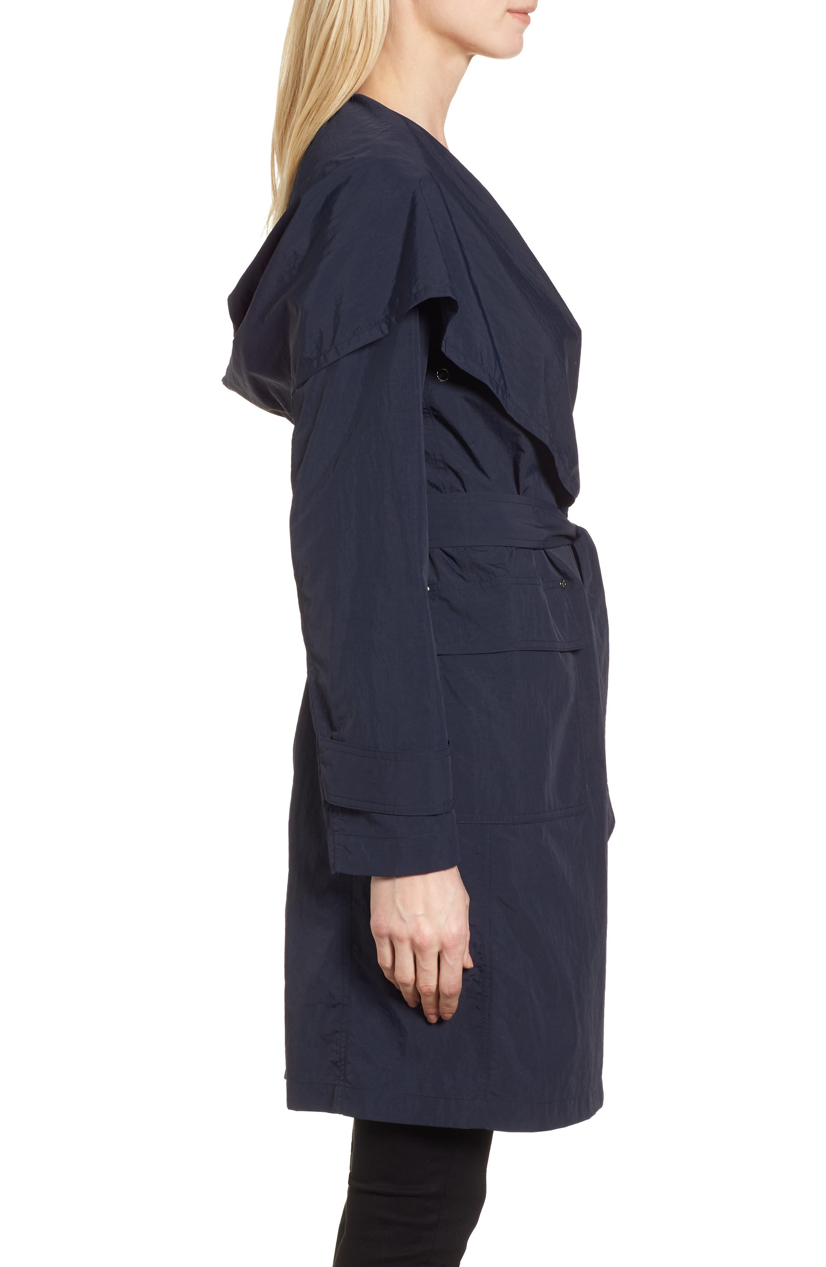 Flo Packable Hooded Raincoat,                             Alternate thumbnail 3, color,                             250