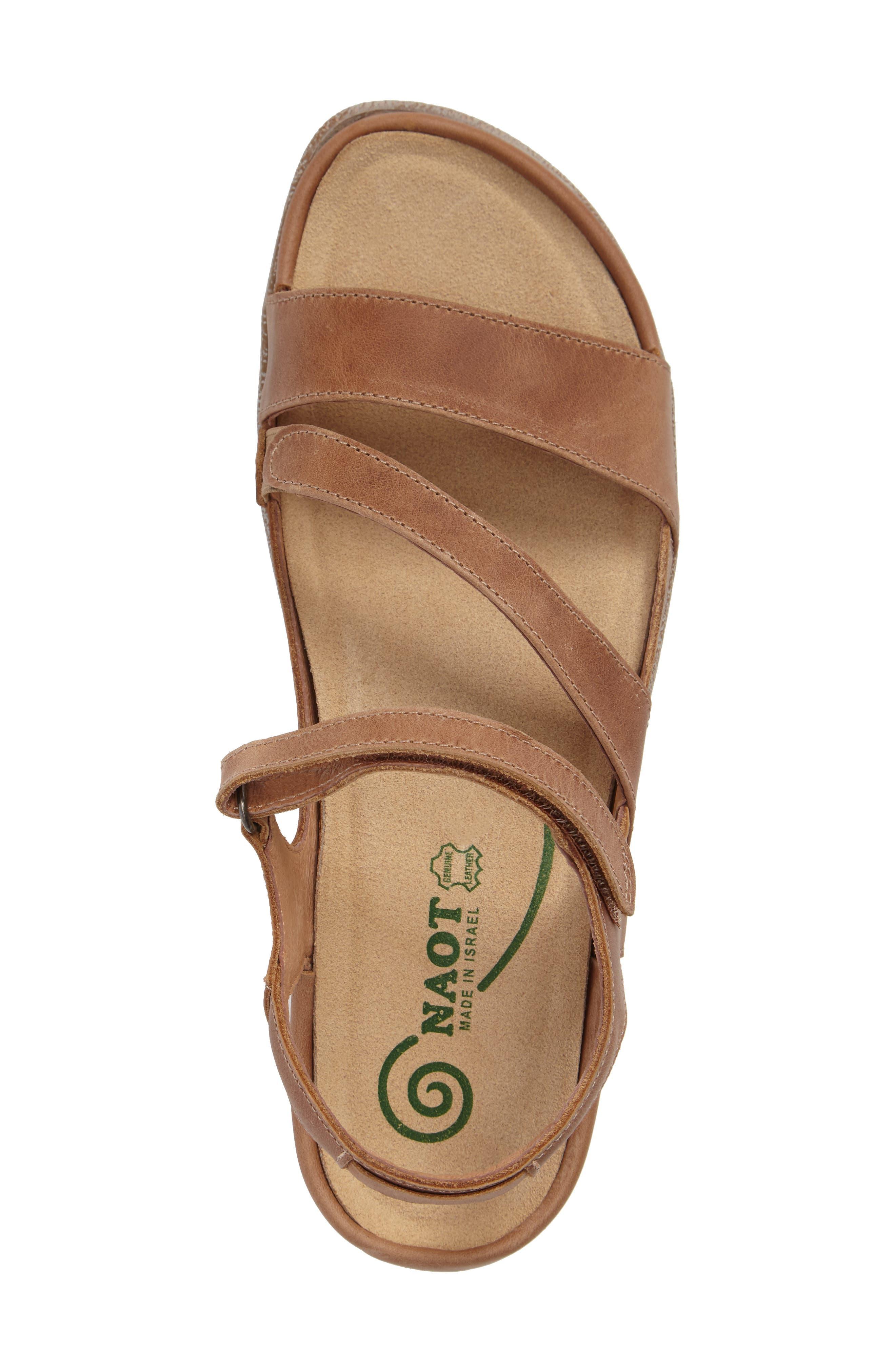 'Etera' Sandal,                             Alternate thumbnail 3, color,                             BROWN LEATHER