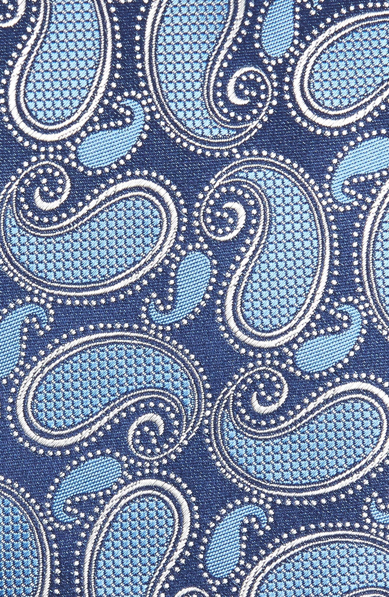 Paisley Silk Tie,                             Alternate thumbnail 2, color,                             NAVY FAN