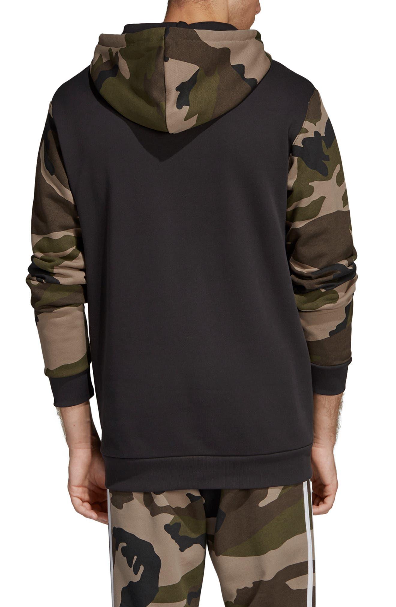 Camo Hooded Sweatshirt,                             Alternate thumbnail 2, color,                             005