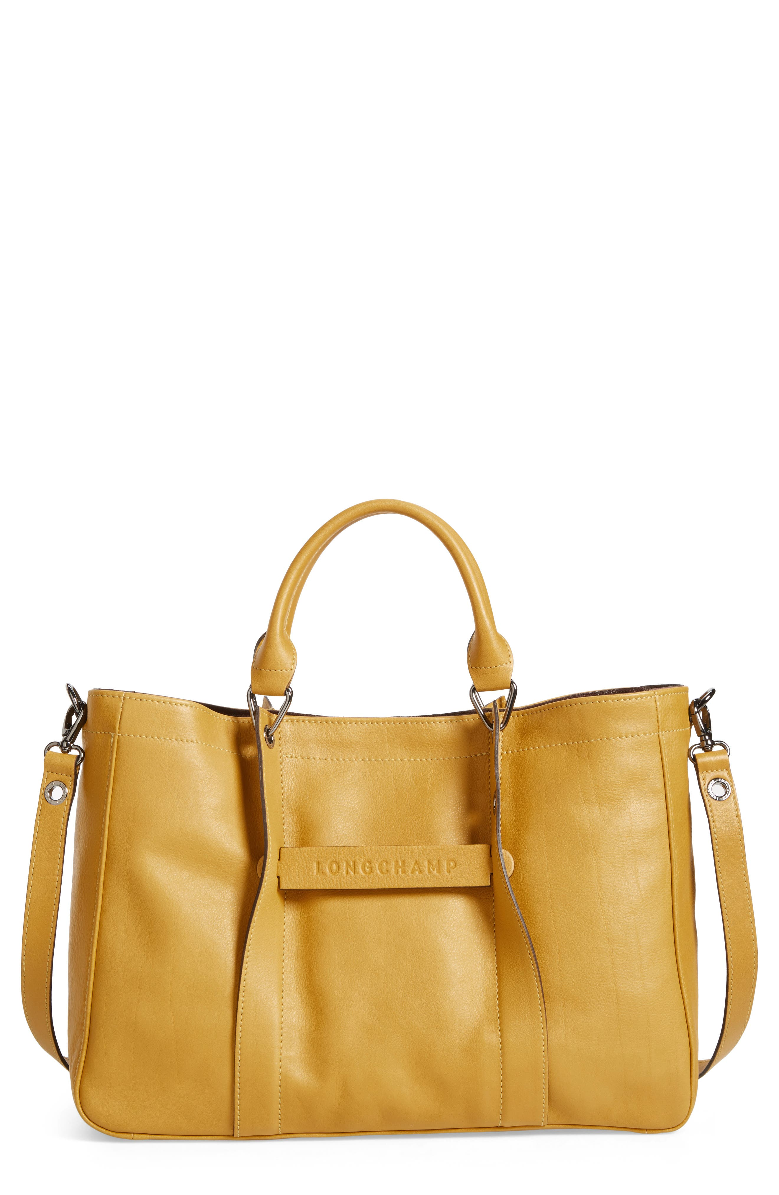 3D Leather Tote,                         Main,                         color, 700
