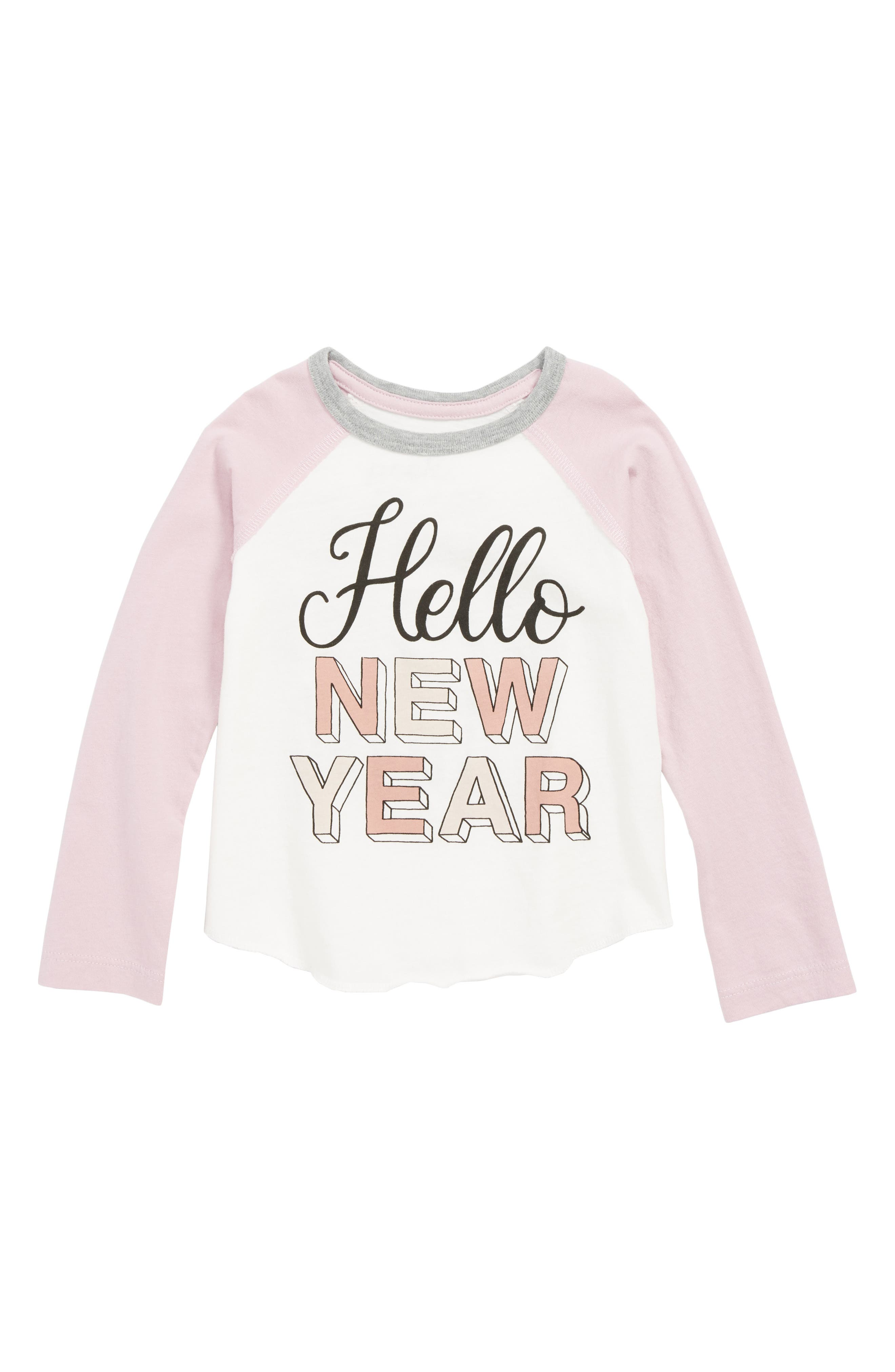 Hello New Year Tee,                             Main thumbnail 1, color,                             IVORY