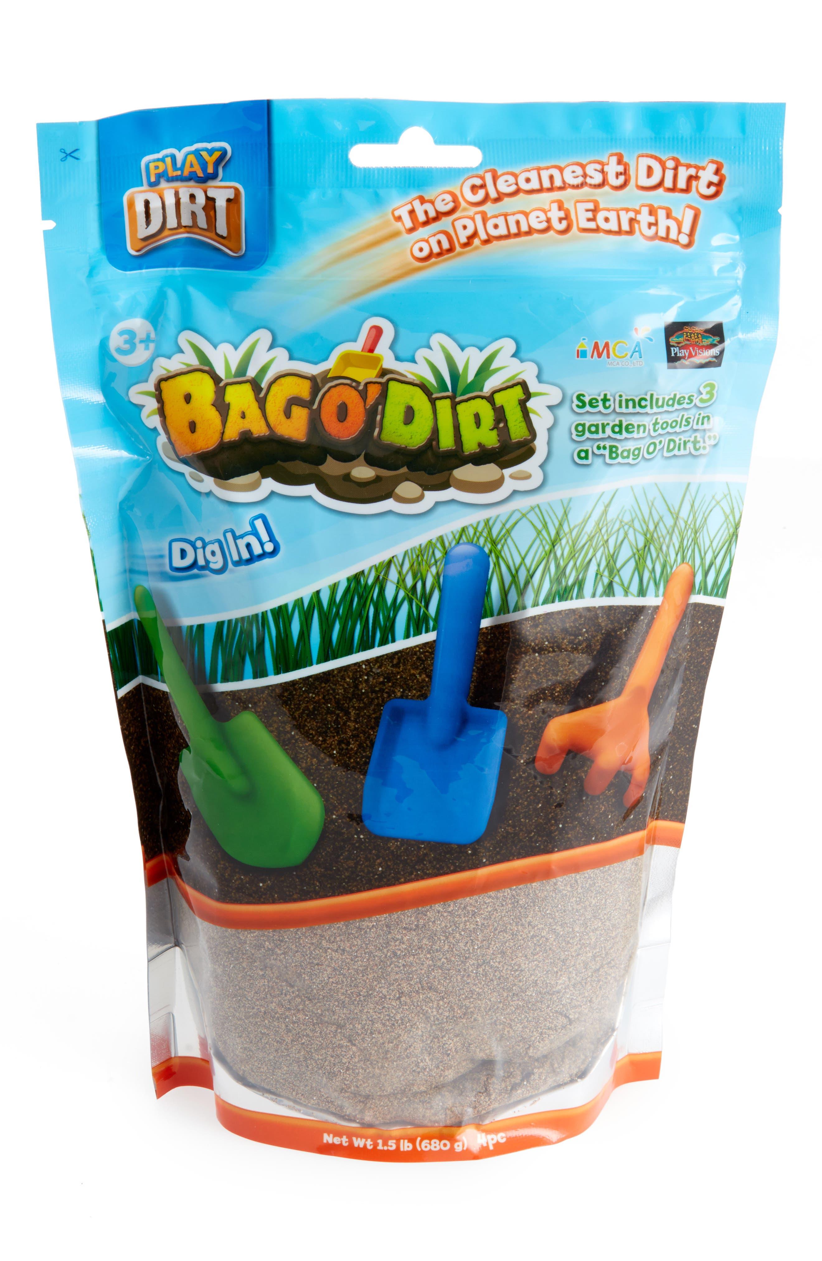 PLAY VISIONS TOYS Bag O' Dirt Play Dirt, Main, color, 200