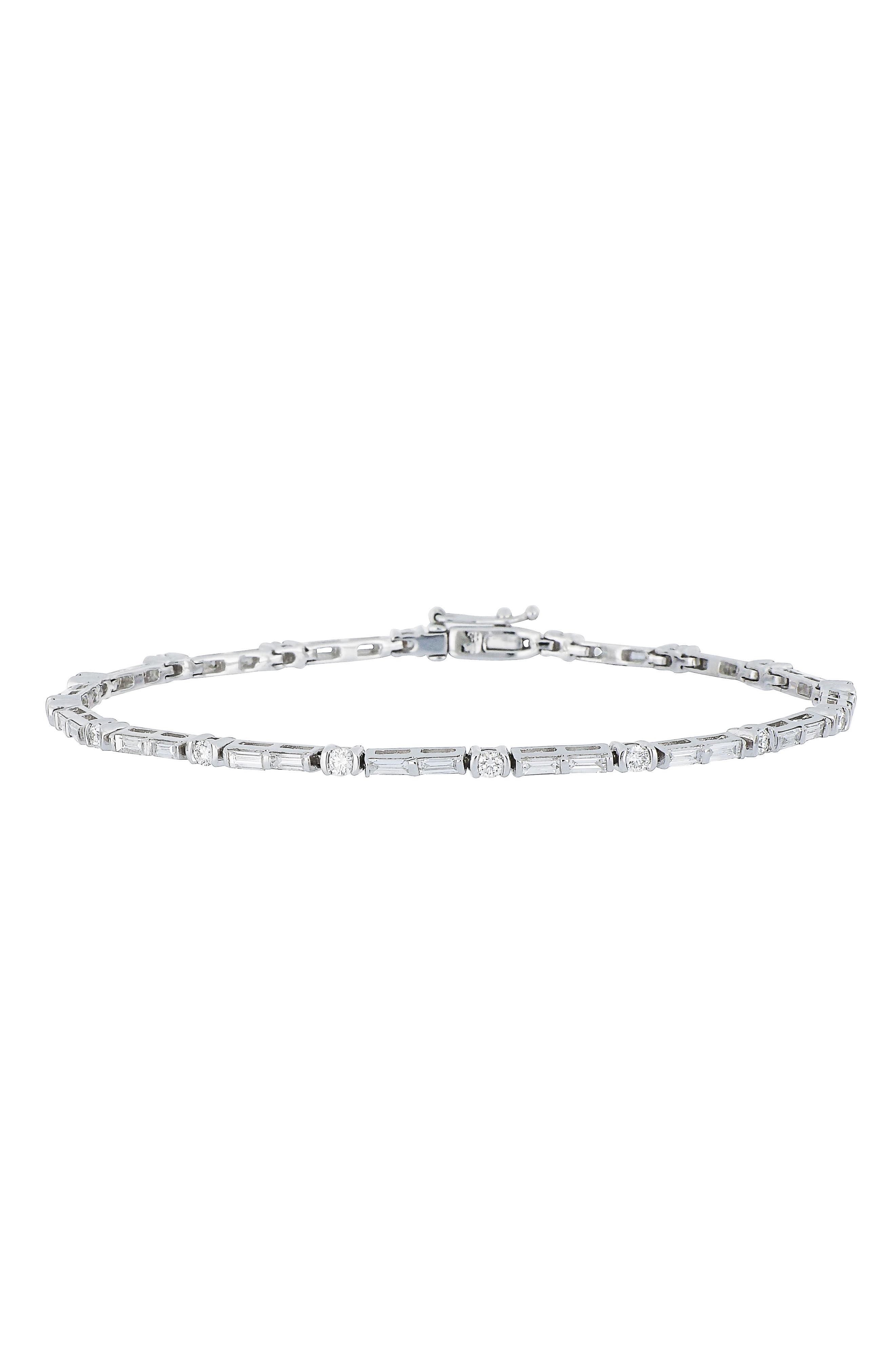 Diamond Tennis Bracelet,                             Main thumbnail 1, color,