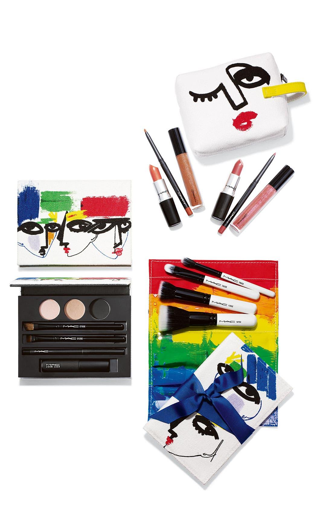M·A·C 'Illustrated - Nude x3' Lip Color & Bag by Julie Verhoeven,                             Alternate thumbnail 2, color,                             000