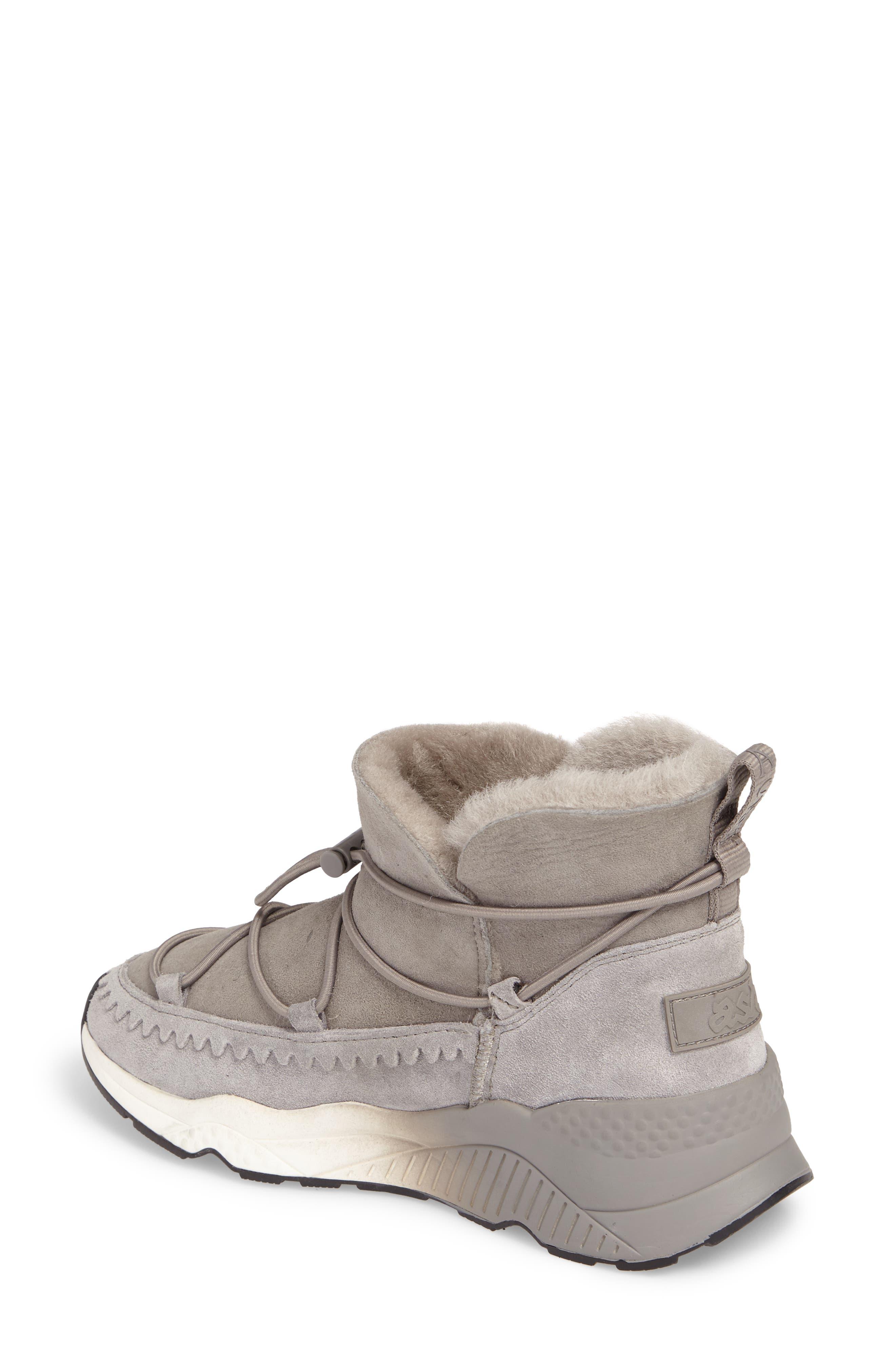 Mitsouko Genuine Shearling Sneaker,                             Alternate thumbnail 2, color,