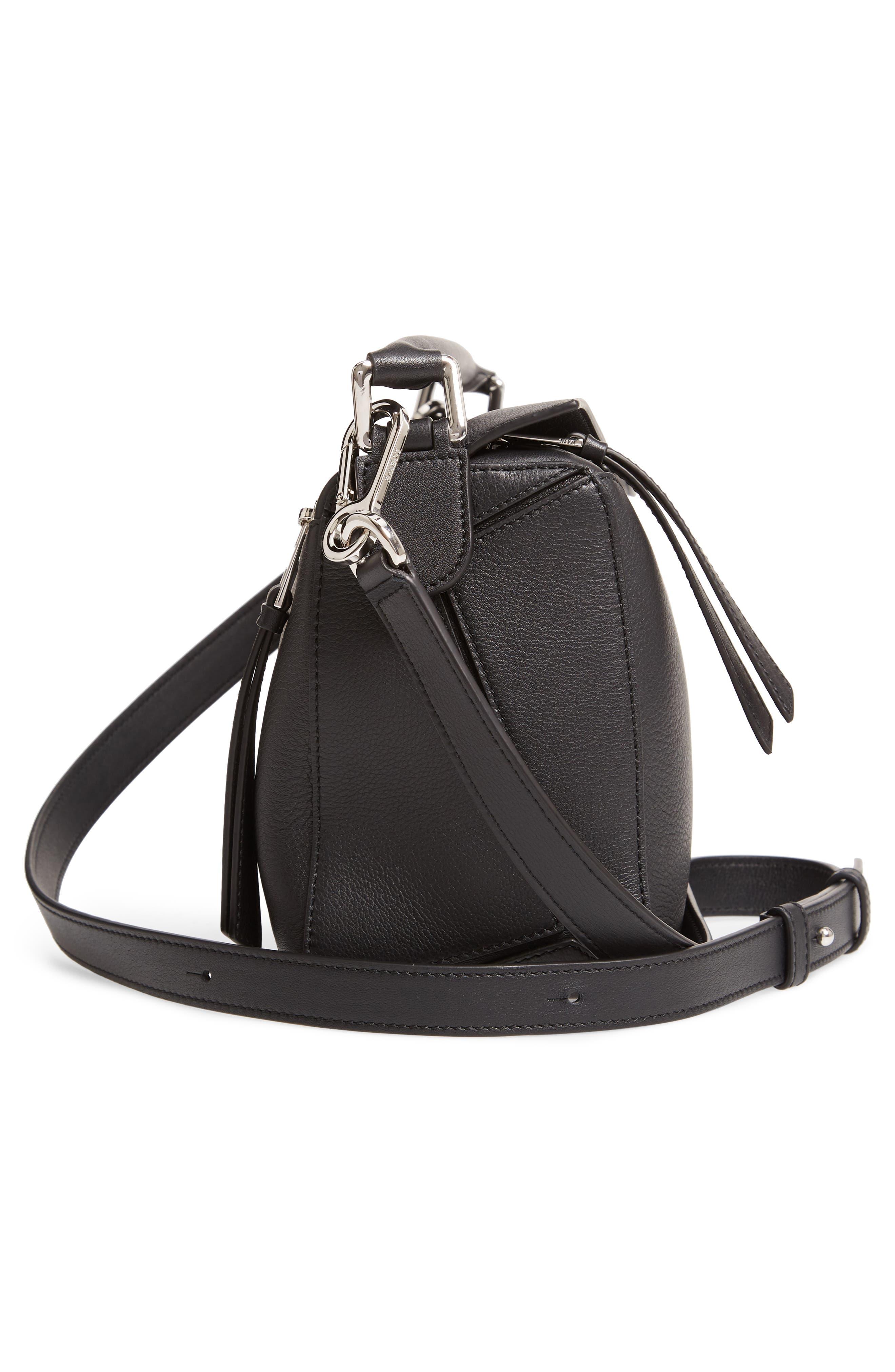 Small Puzzle Shoulder Bag,                             Alternate thumbnail 5, color,                             BLACK