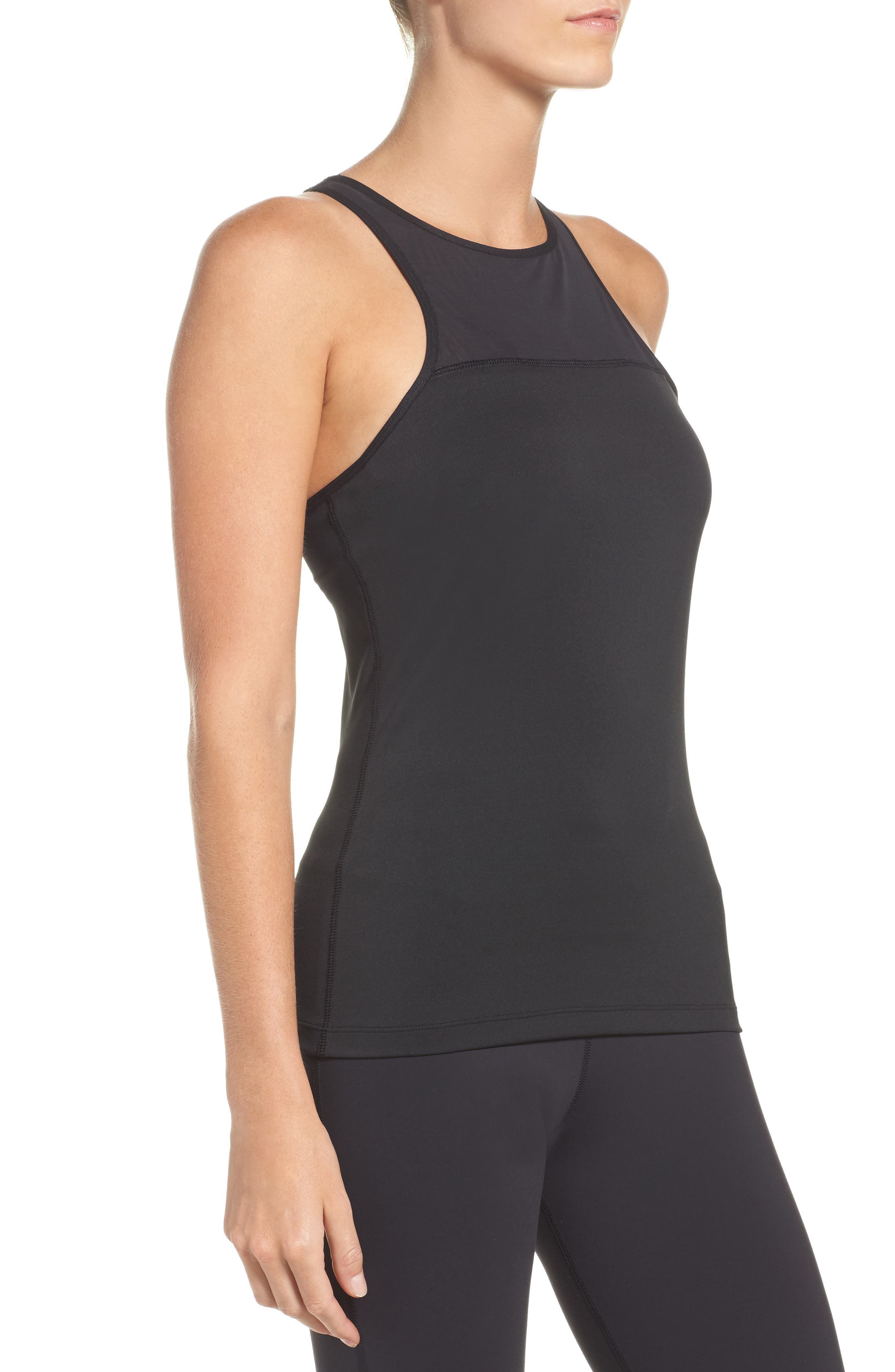 Speedwick Built-In Sports Bra Tank,                             Alternate thumbnail 3, color,                             005