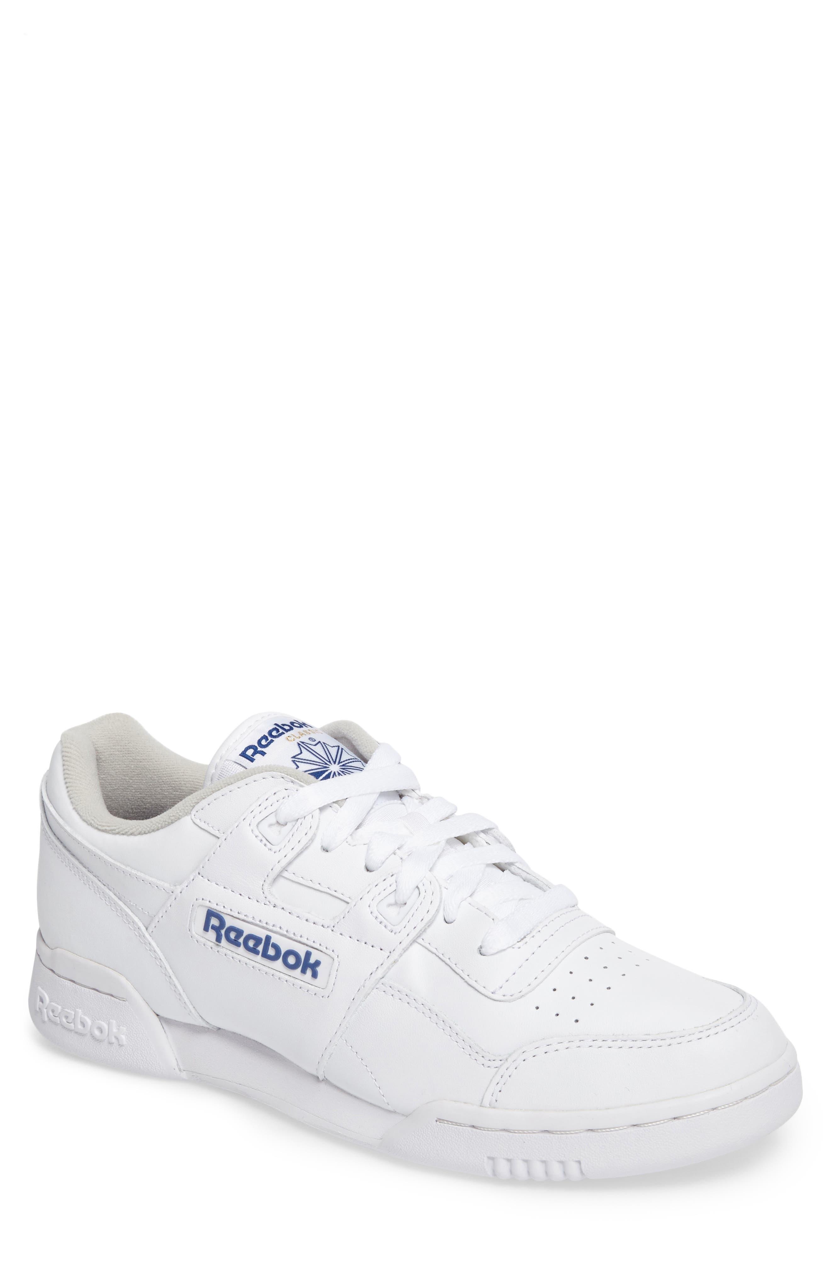 Workout Plus Sneaker,                         Main,                         color, WHITE/ ROYAL