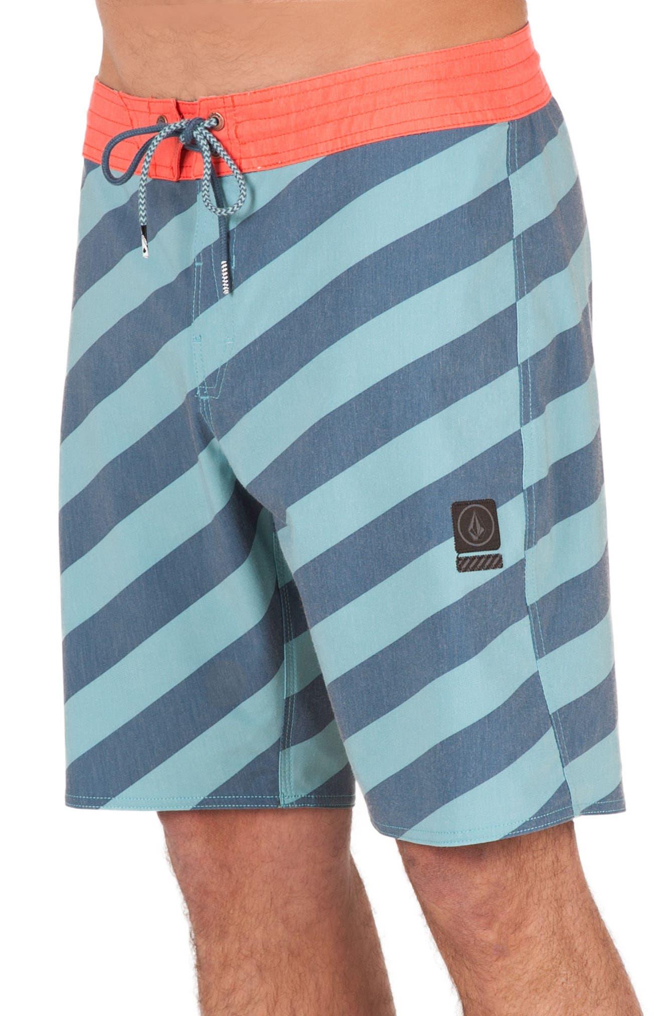 Stripey Slinger Board Shorts,                             Alternate thumbnail 24, color,
