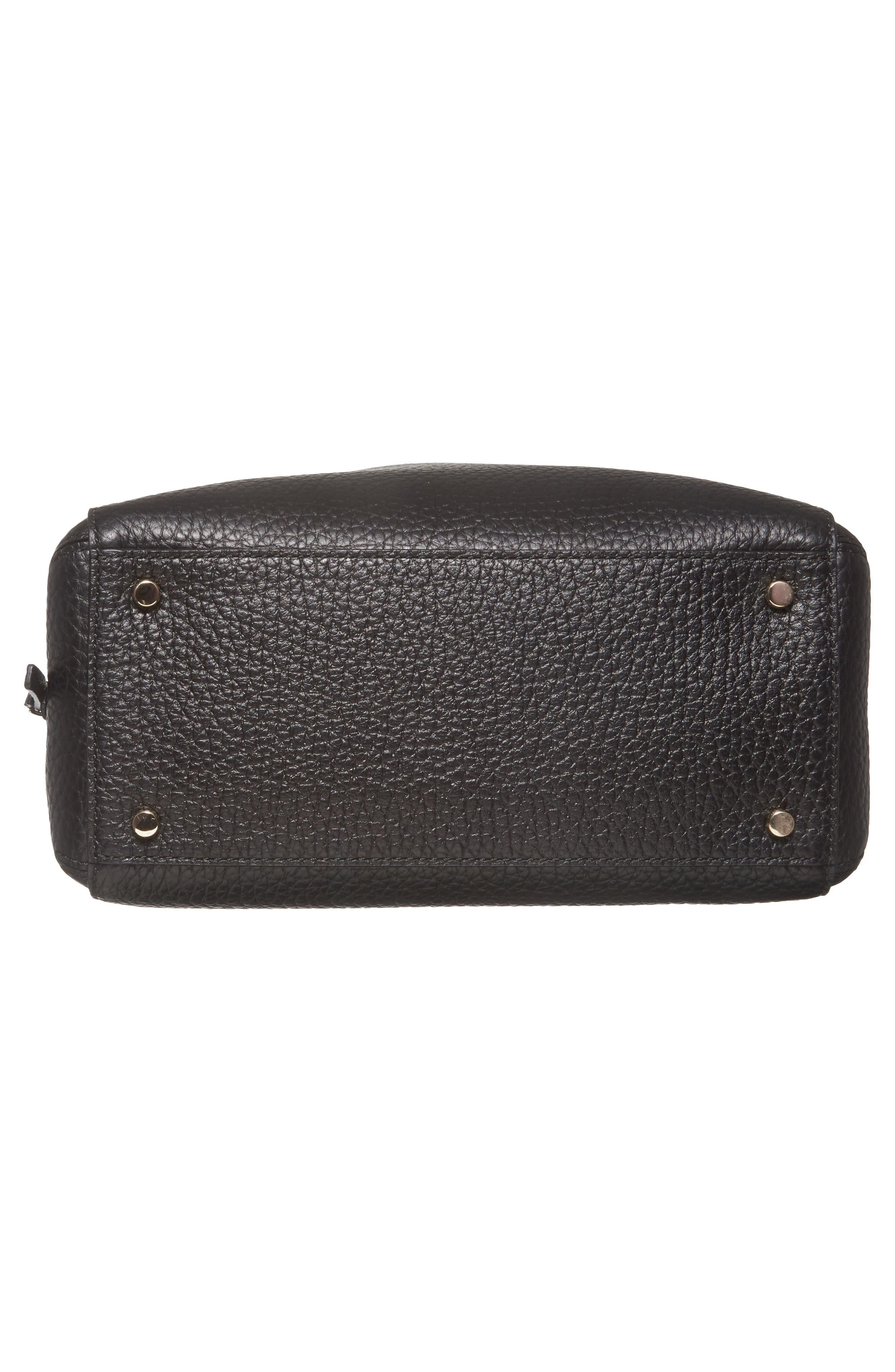 carter street - aliana leather satchel,                             Alternate thumbnail 6, color,                             001