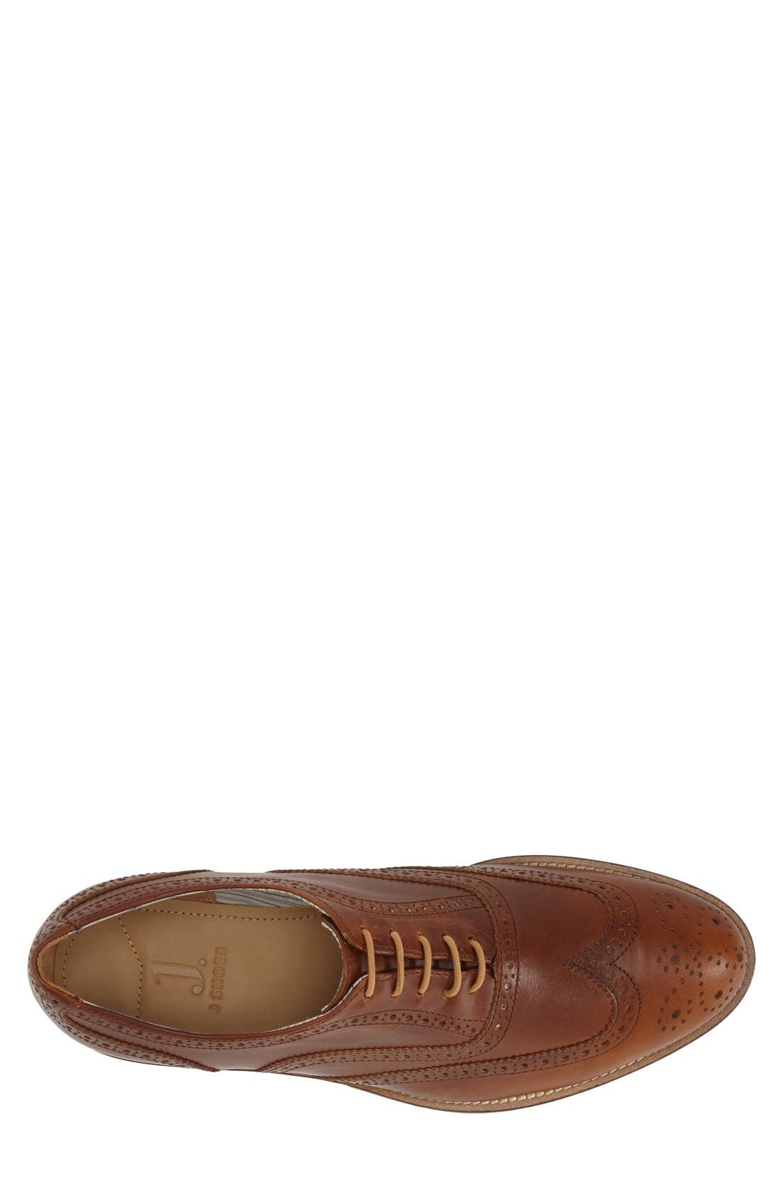 'Charlie Plus' Wingtip Oxford,                             Alternate thumbnail 3, color,                             BRASS LEATHER