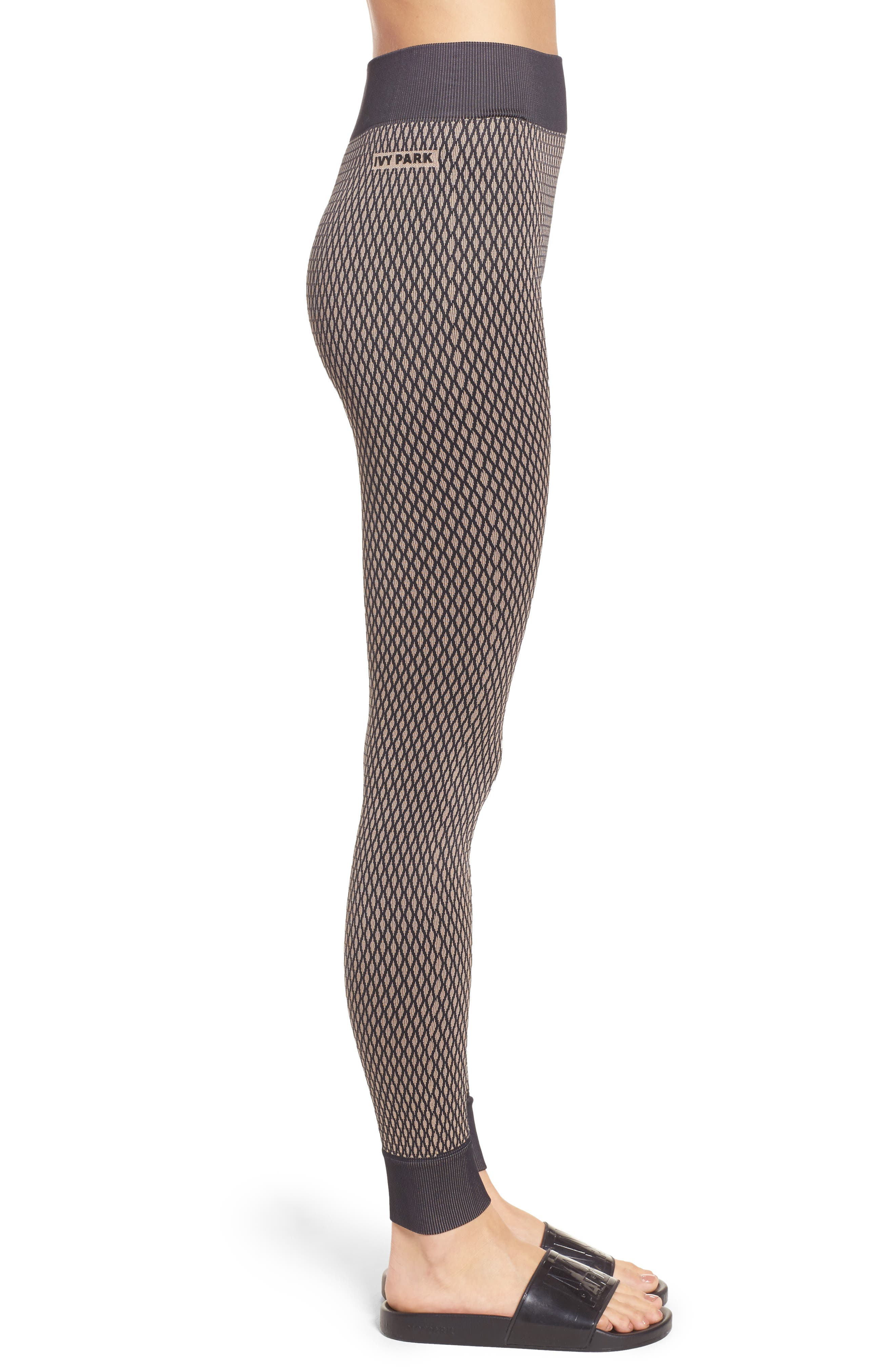 Fishnet Seamless Leggings,                             Alternate thumbnail 3, color,                             001