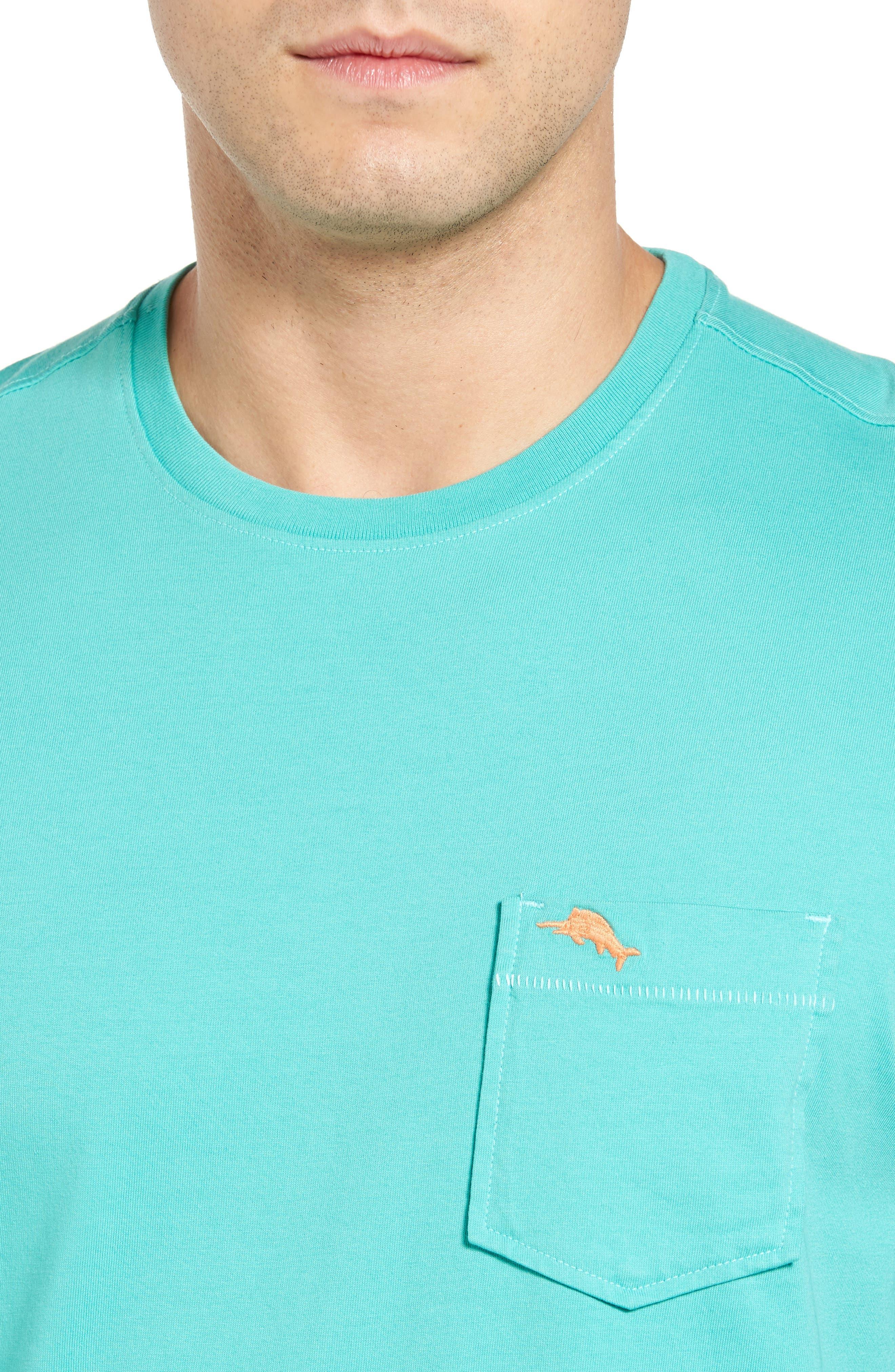 New Bali Sky Pima Cotton Pocket T-Shirt,                             Alternate thumbnail 105, color,
