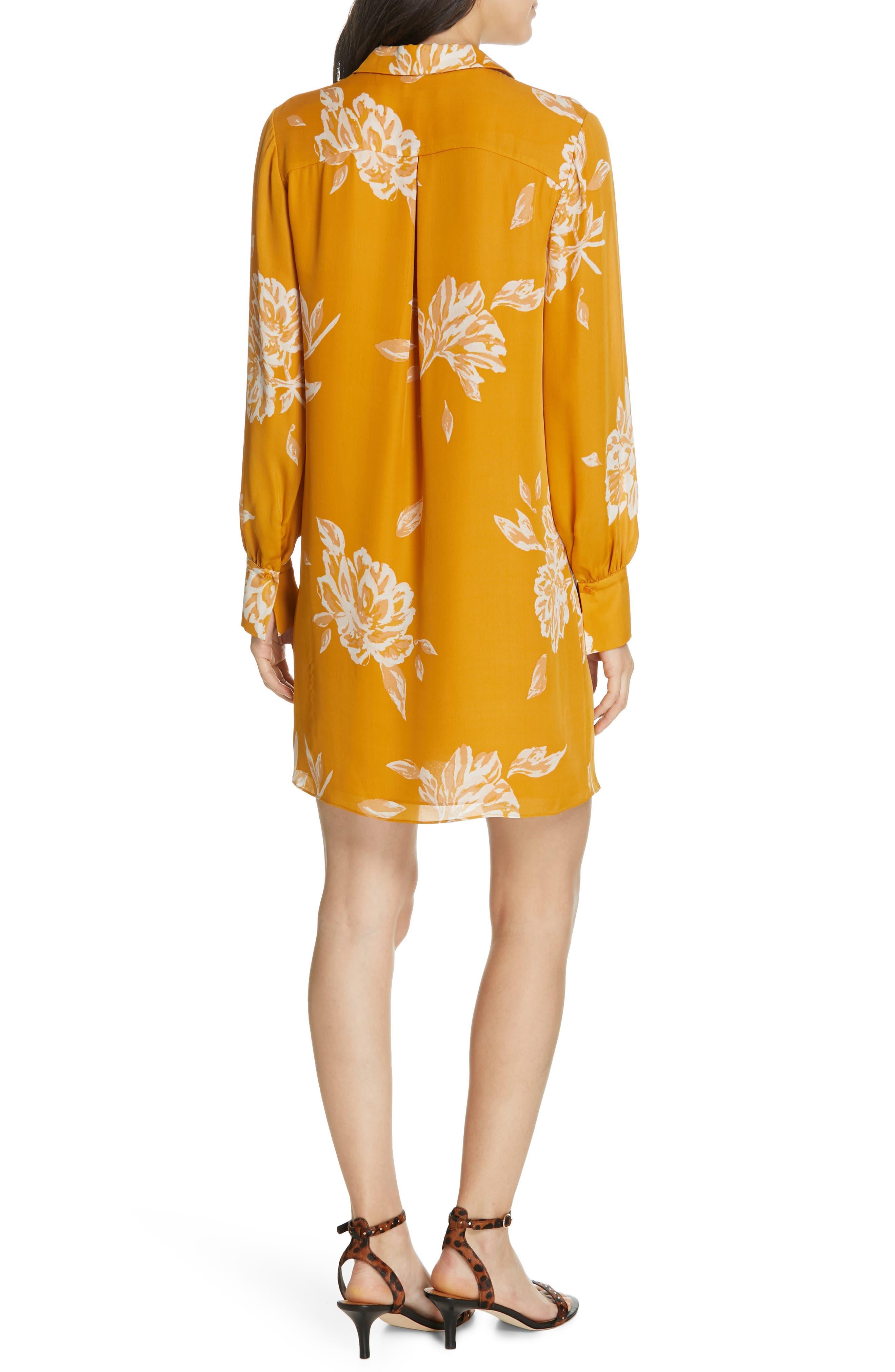 Amaranda Silk Shirtdress,                             Alternate thumbnail 2, color,                             DUSTY GOLD