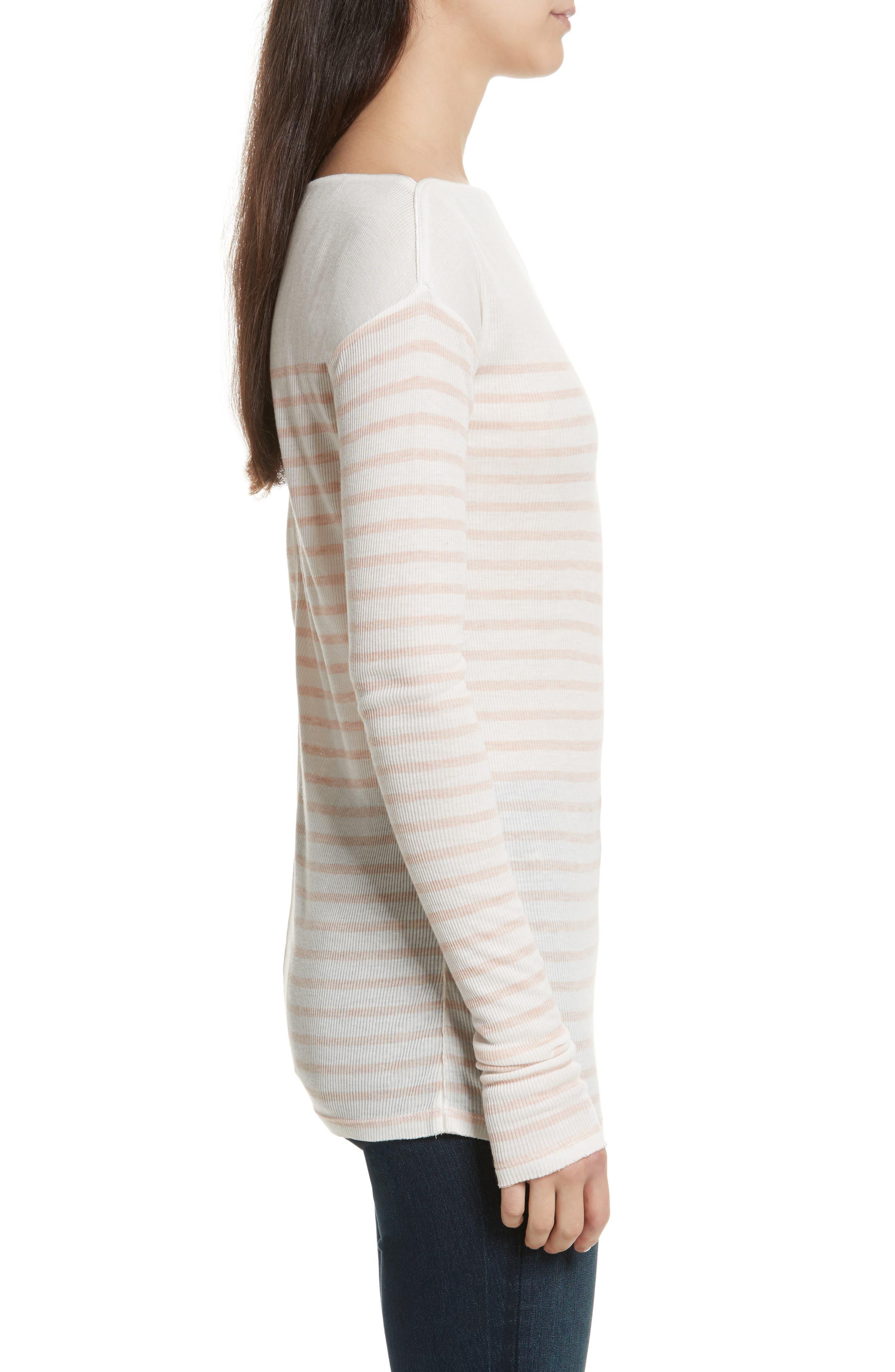 Madison Stripe Long Sleeve Top,                             Alternate thumbnail 3, color,                             900