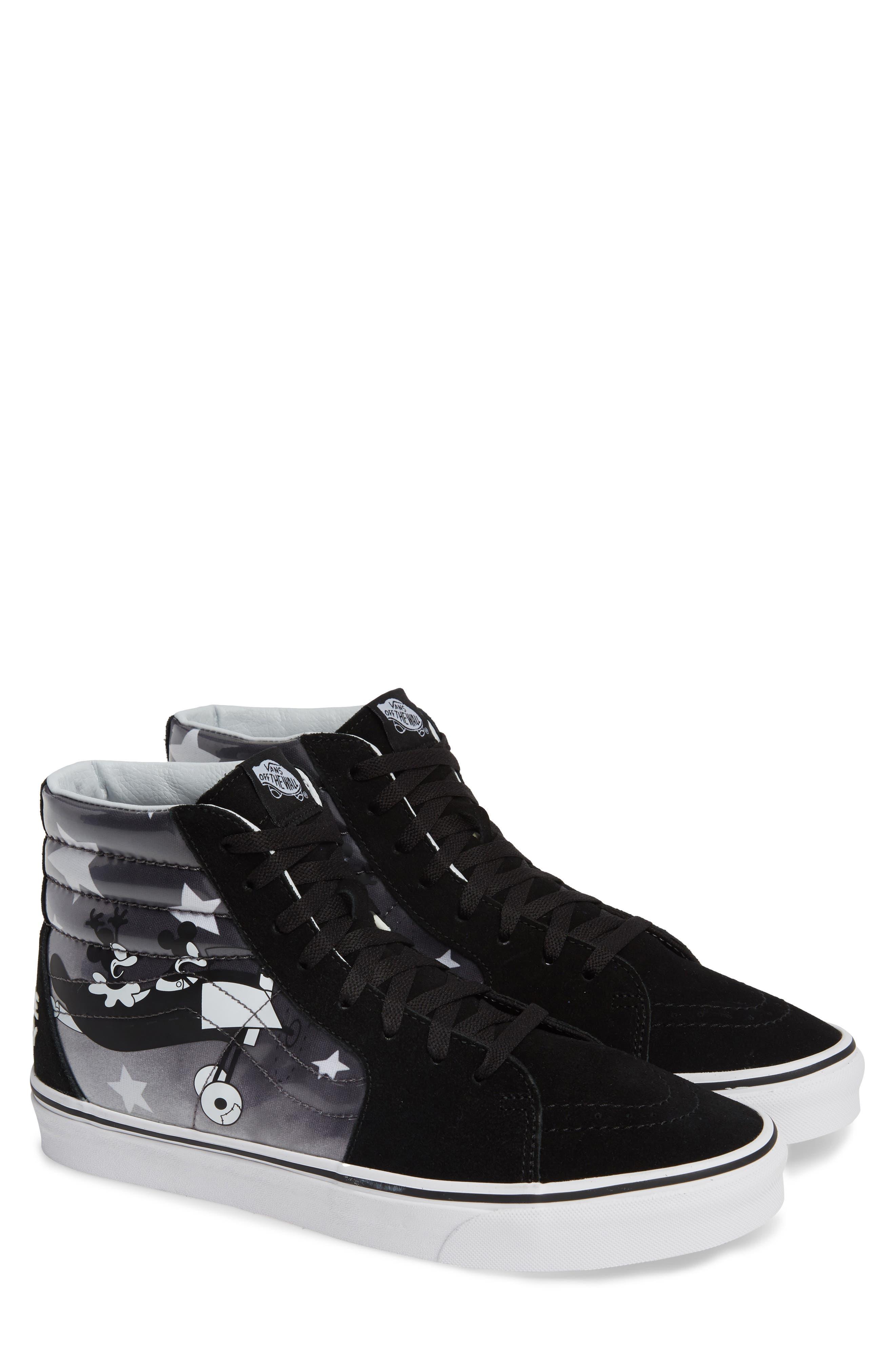 x Disney Mickey's 90th Anniversary SK8-Hi Sneaker,                         Main,                         color, DISNEY PLANE CRAZY/ TRUE WHITE
