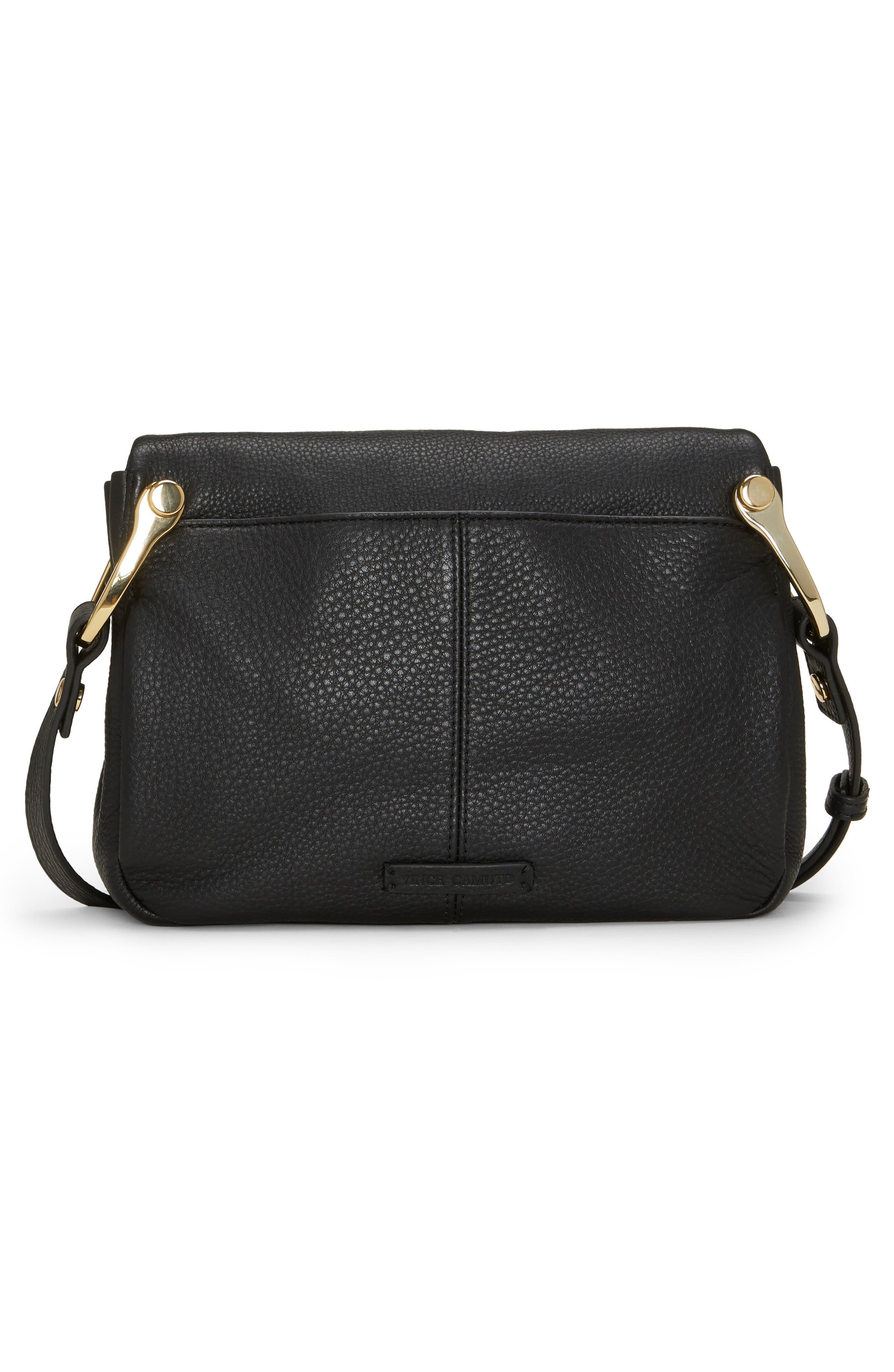 VINCE CAMUTO,                             Clem Leather Crossbody Bag,                             Alternate thumbnail 2, color,                             001