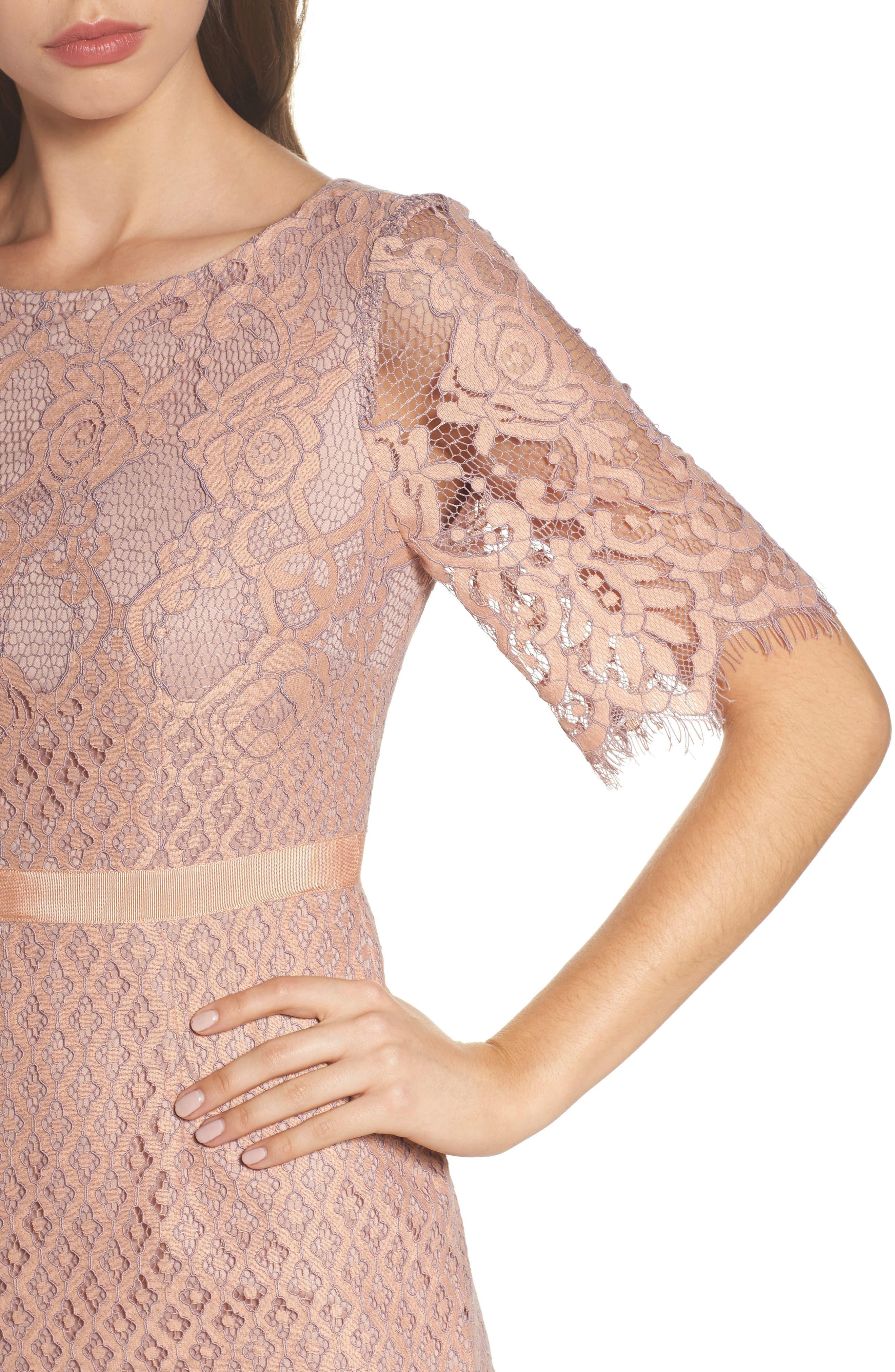 Lace Sheath Dress,                             Alternate thumbnail 4, color,                             950