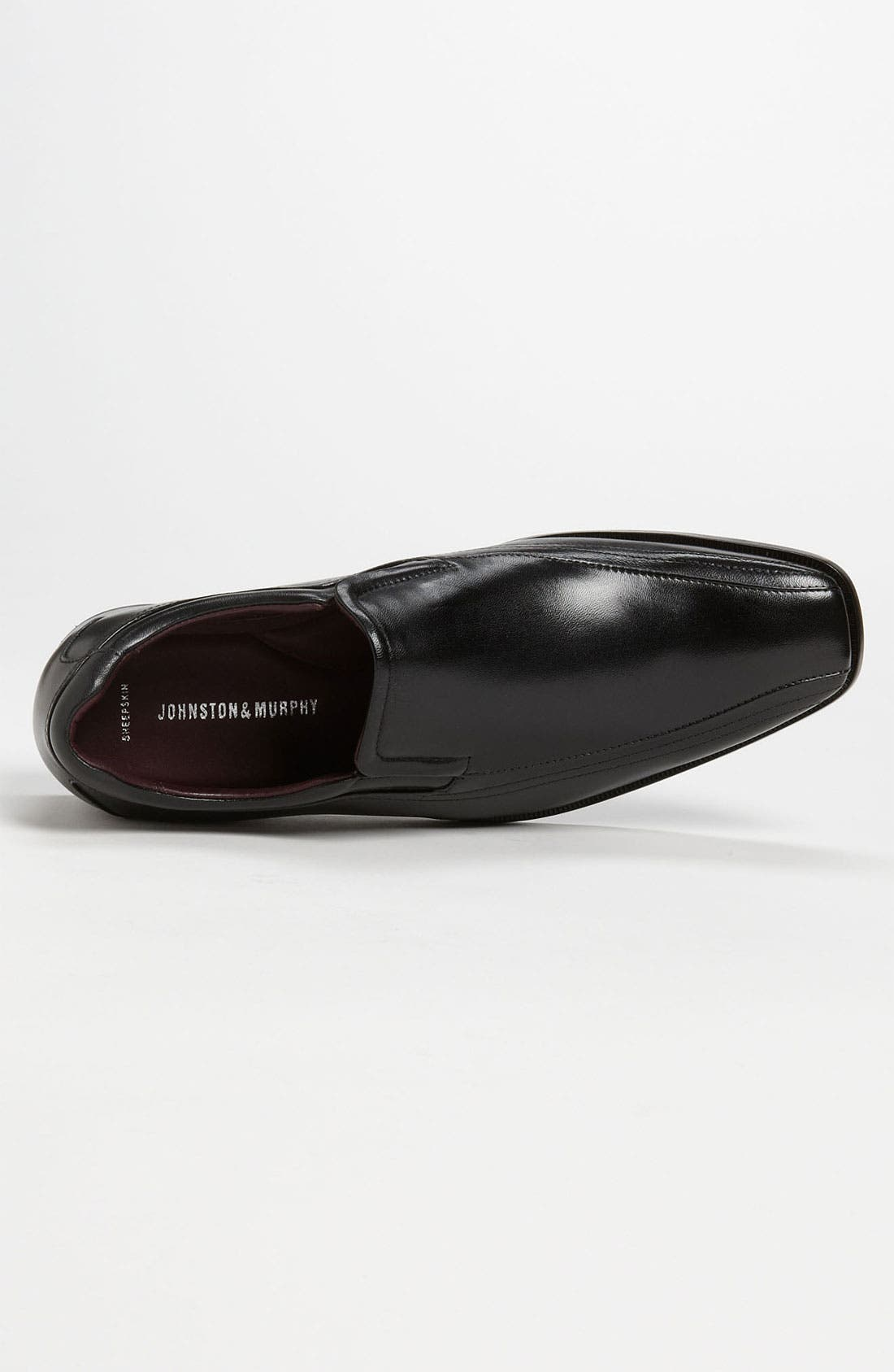 'Shaler' Venetian Loafer,                             Alternate thumbnail 3, color,                             BLACK