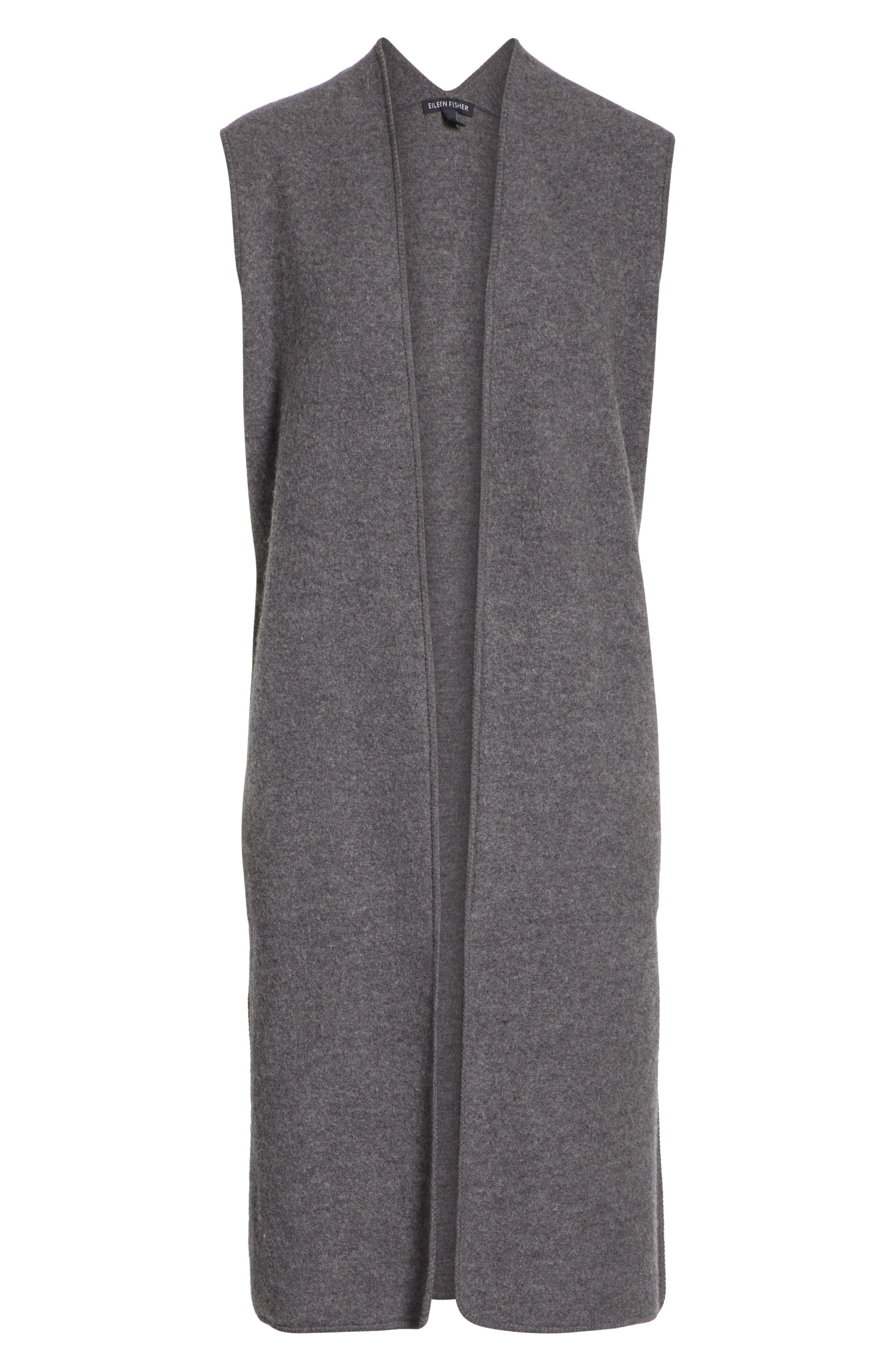 Long Merino Wool Vest,                             Alternate thumbnail 5, color,                             030