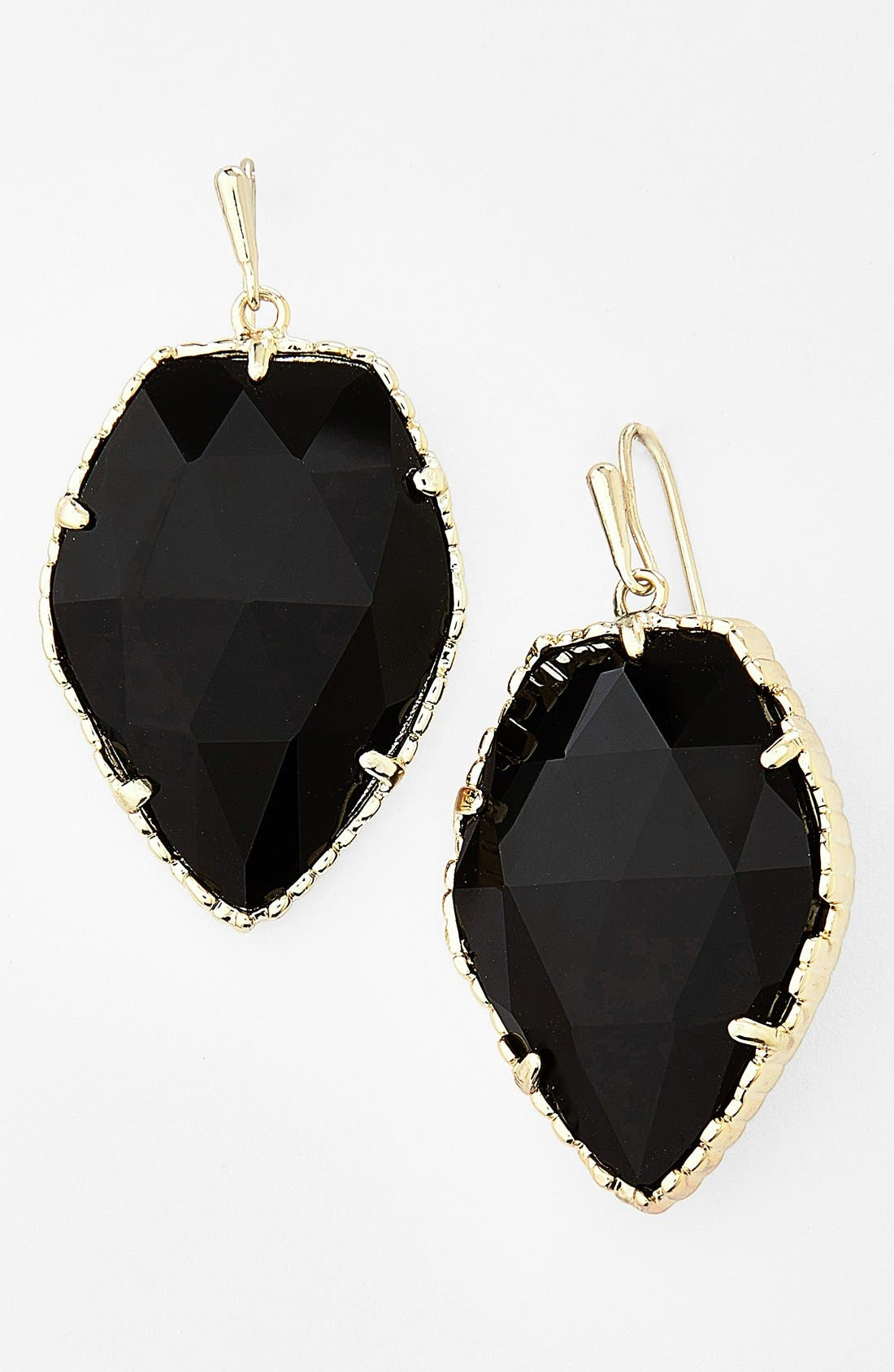 'Corley' Faceted Stone Drop Earrings, Main, color, 001