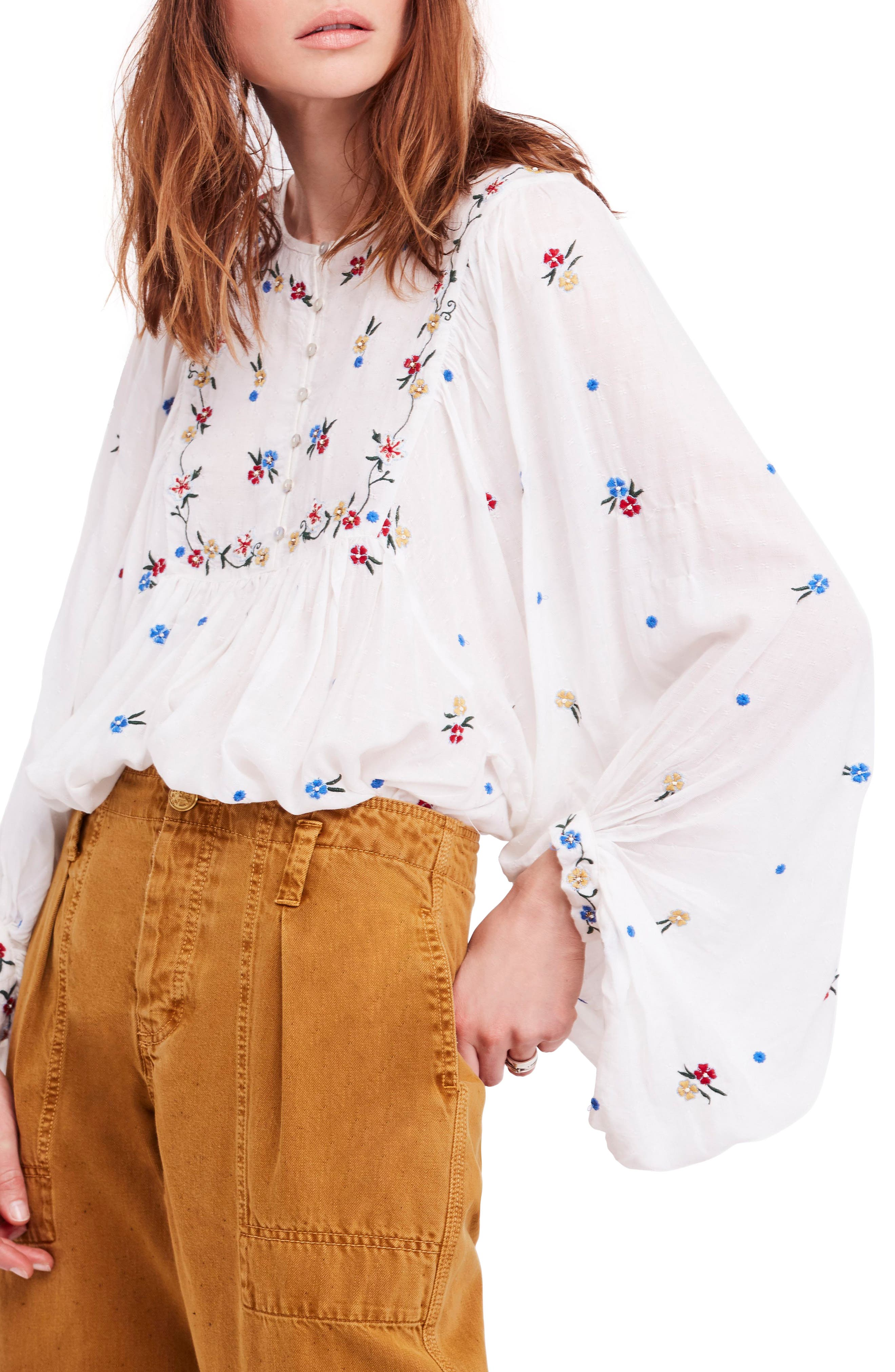 Kiss from a Rose Tunic,                             Main thumbnail 1, color,                             IVORY