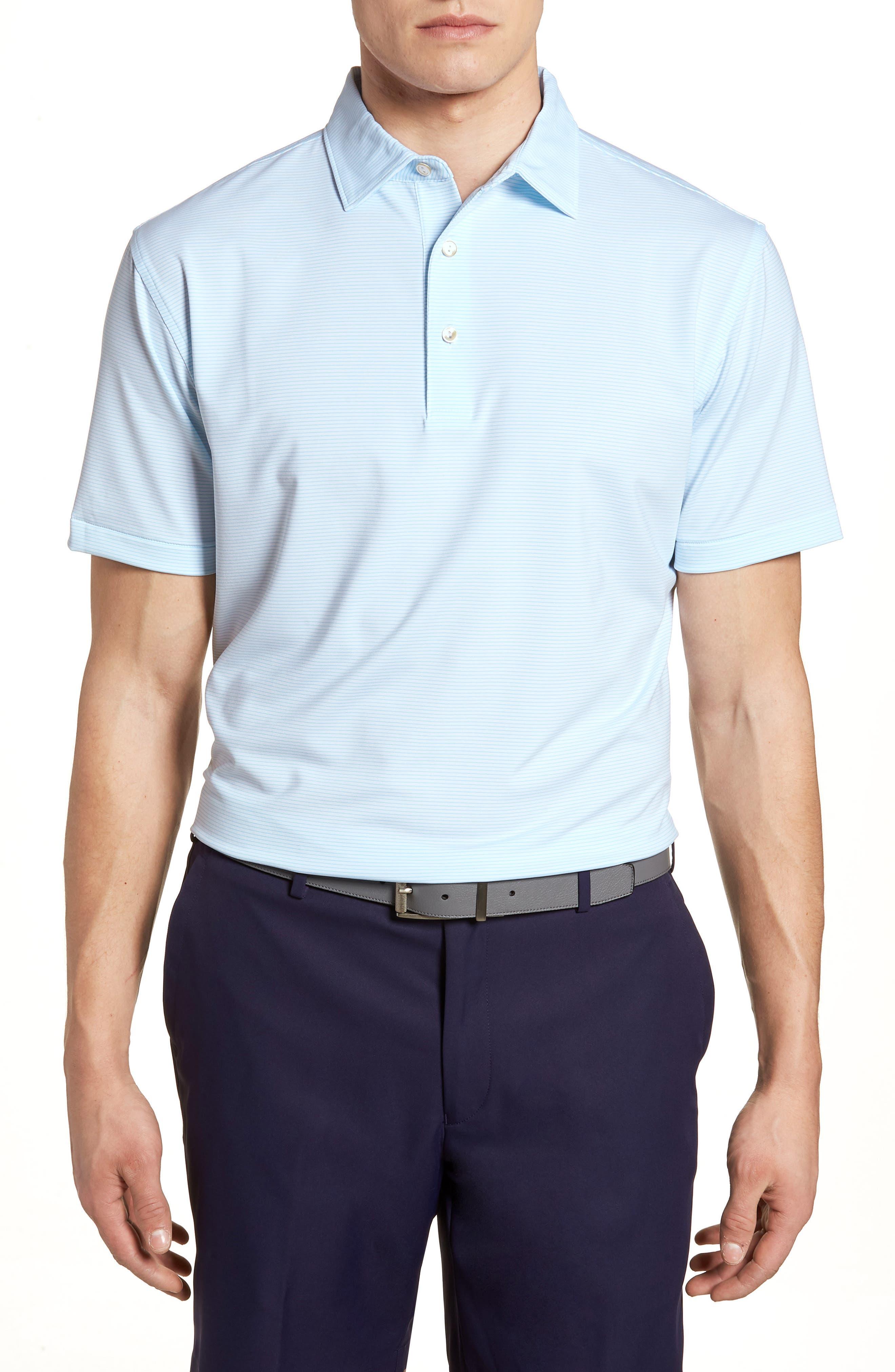 Halford Stripe Stretch Jersey Polo,                         Main,                         color, 100