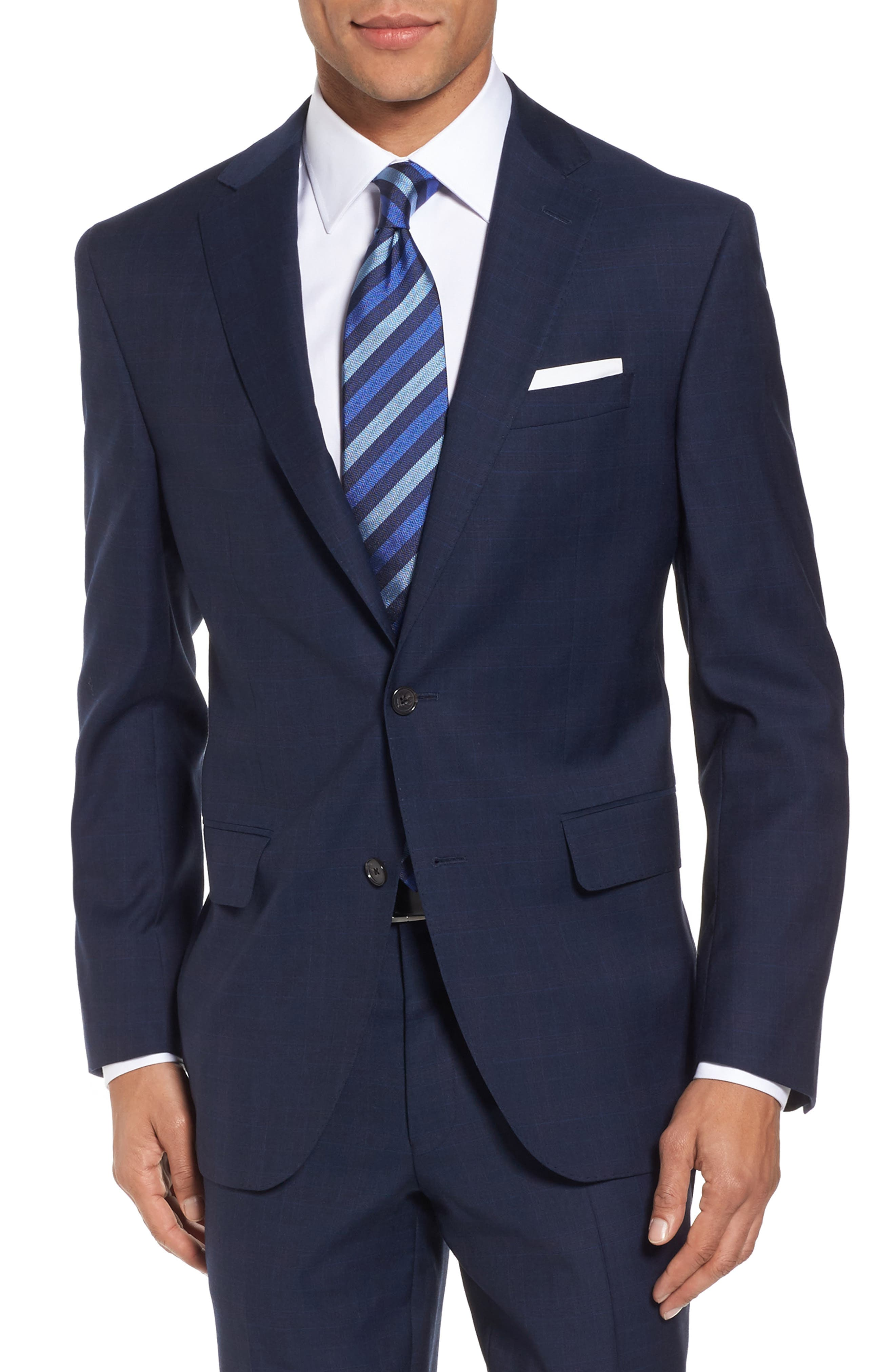 Ryan Classic Fit Plaid Wool Suit,                             Alternate thumbnail 5, color,                             410