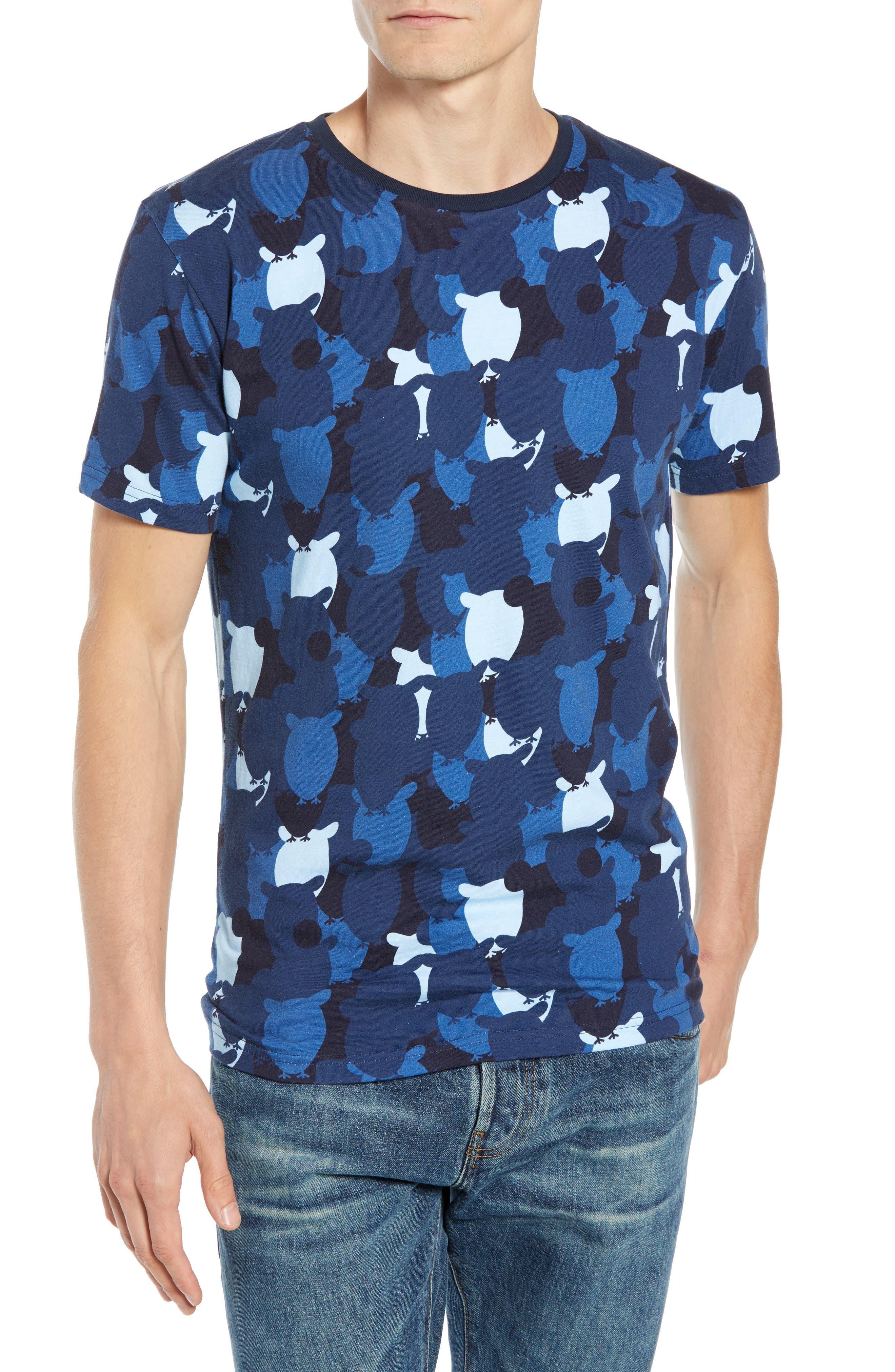 Allover Owl Print T-Shirt,                         Main,                         color, SKYWAY
