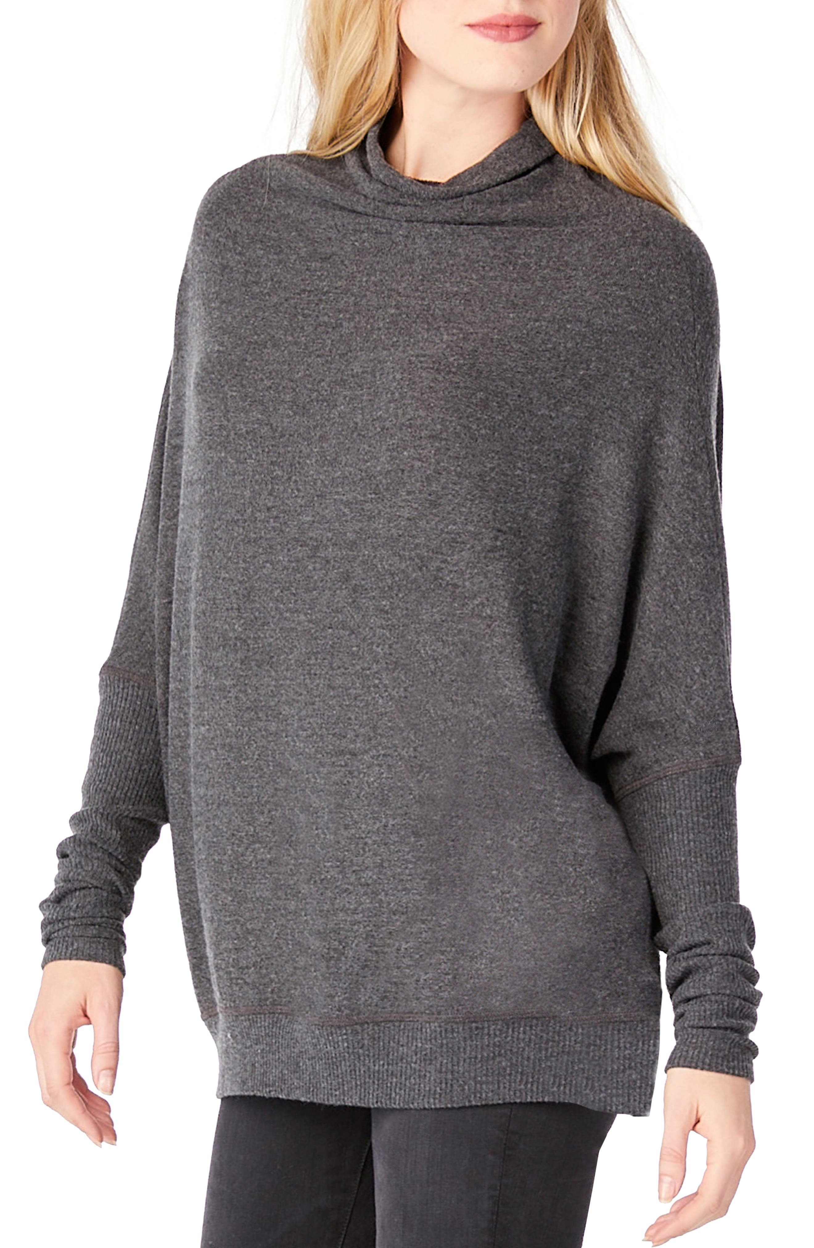 Mock Neck Dolman Shirt,                             Alternate thumbnail 3, color,                             020