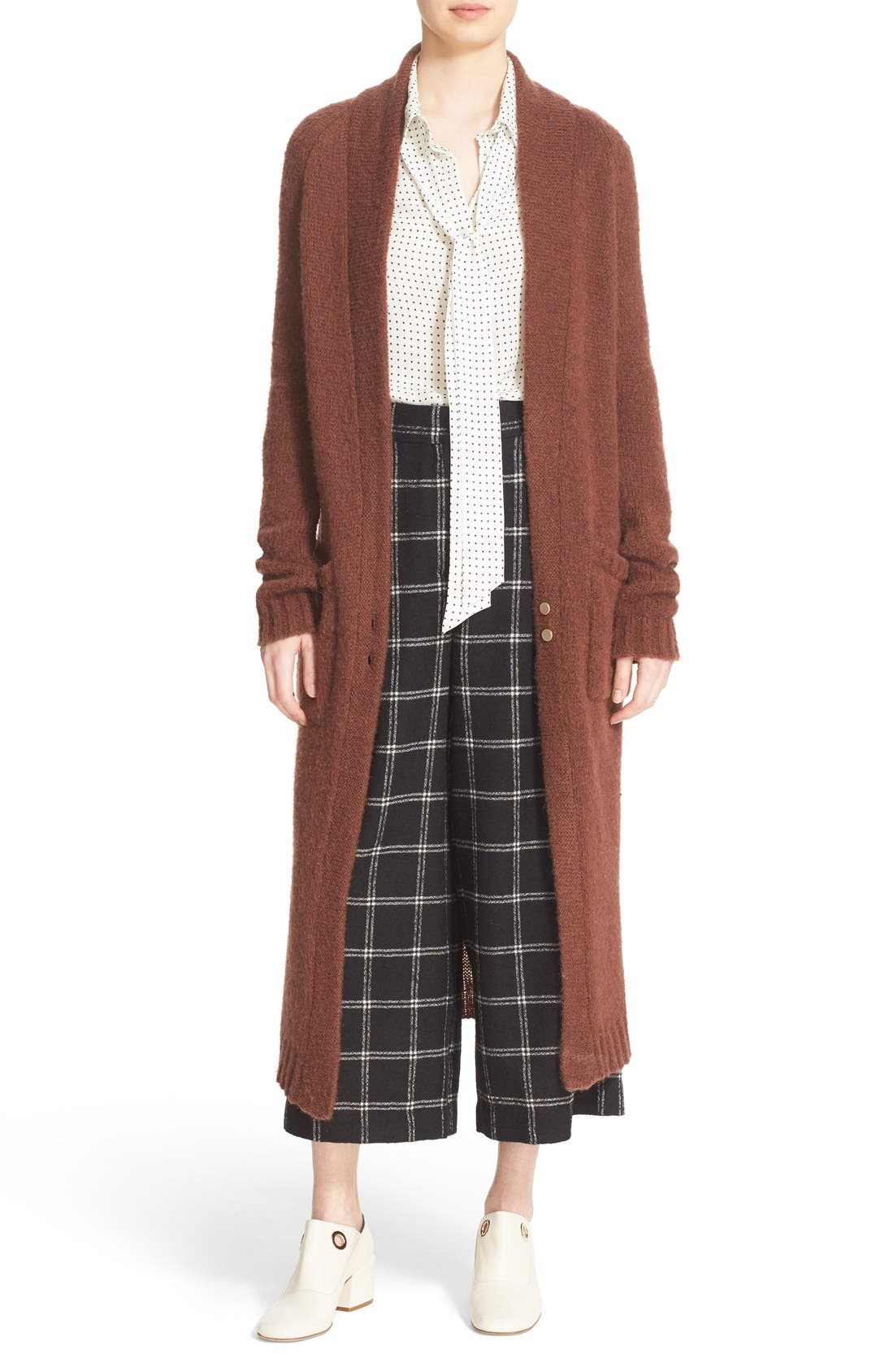 Two-Button Long Cardigan, Main, color, 200