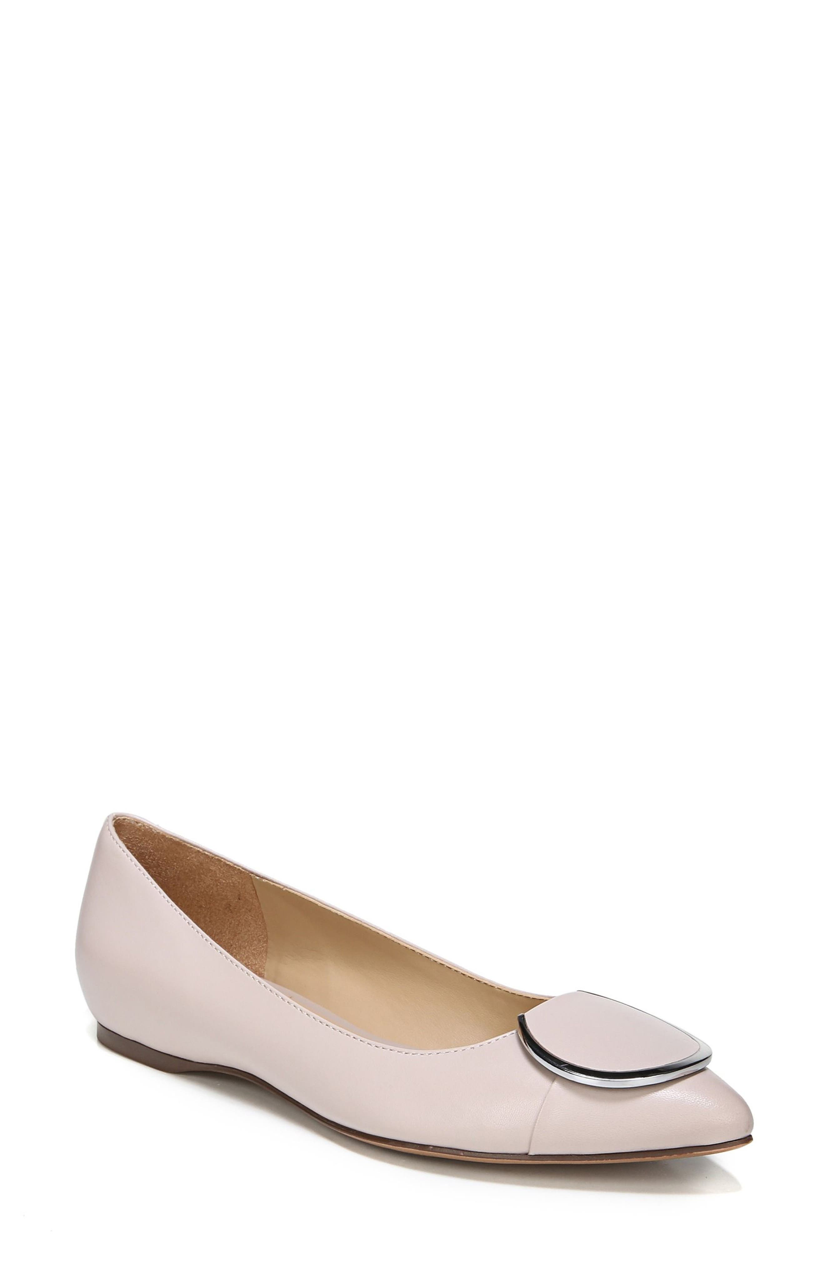 Stella Flat,                         Main,                         color, GREY LEATHER