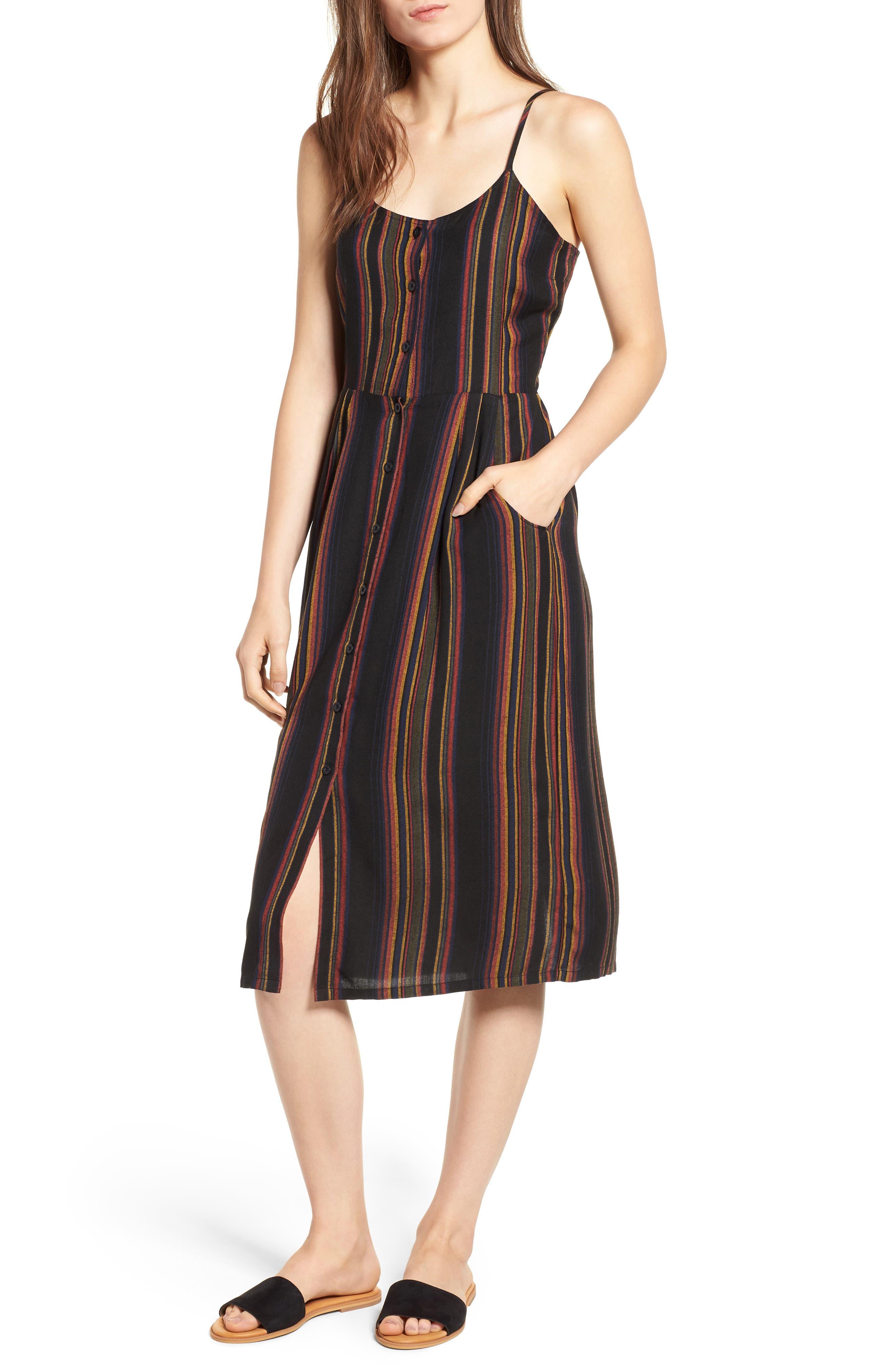 Medway Stripe Midi Dress,                             Main thumbnail 1, color,                             001
