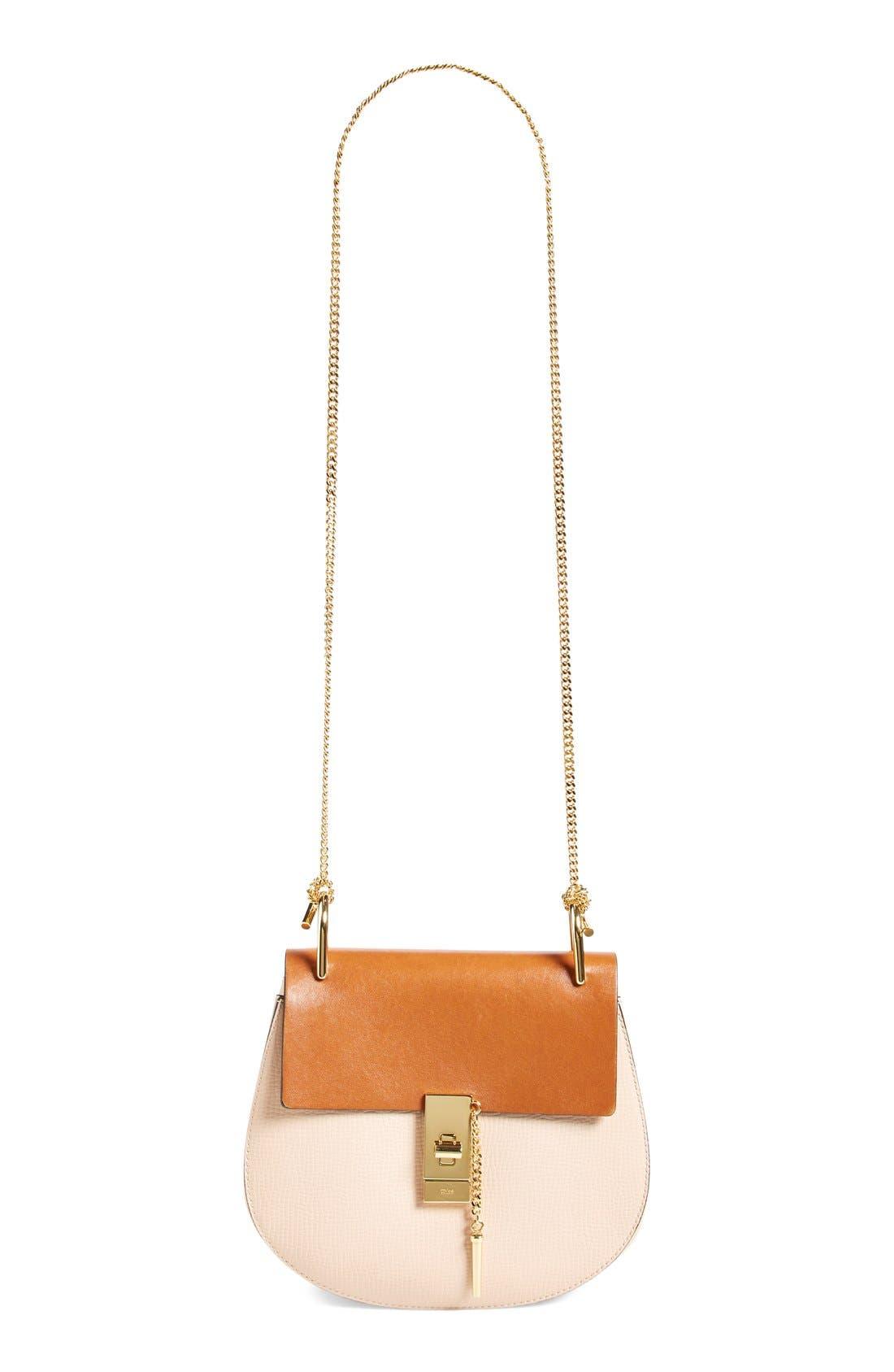 'Small Drew' Leather Shoulder Bag,                             Alternate thumbnail 3, color,                             250