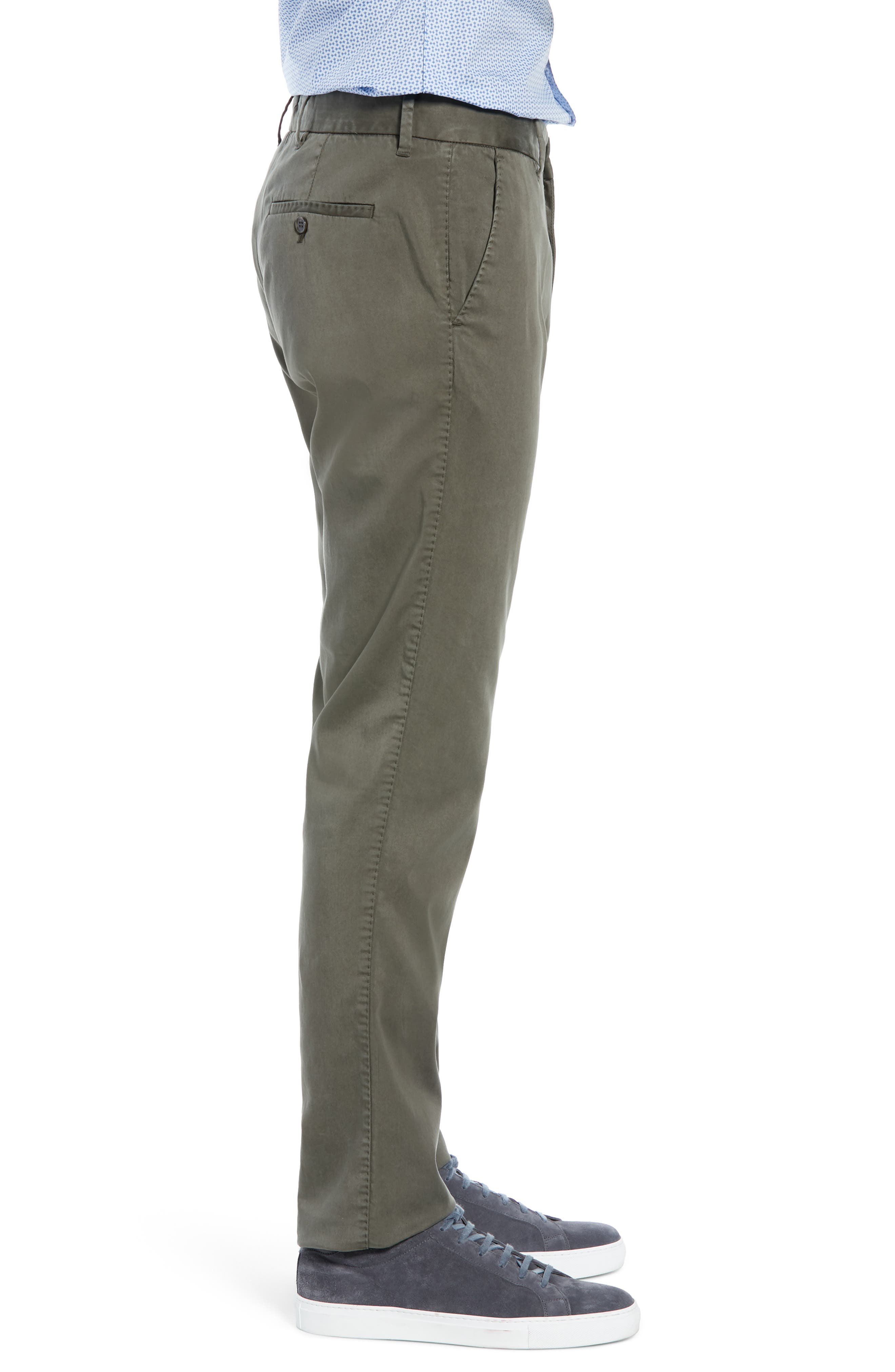 Aster Straight Fit Pants,                             Alternate thumbnail 3, color,                             OLIVE
