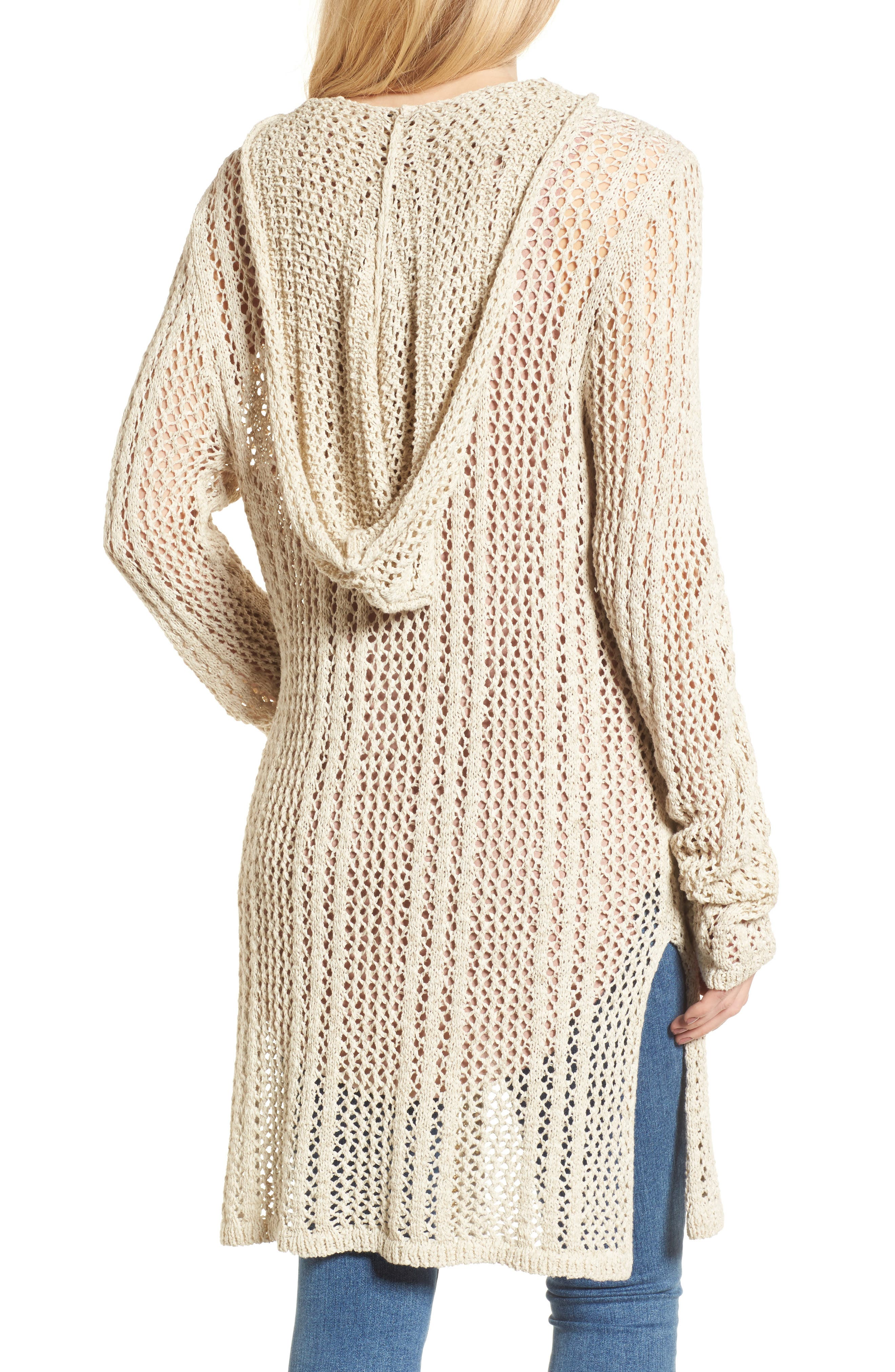 Knox Hooded Cardigan,                             Alternate thumbnail 4, color,