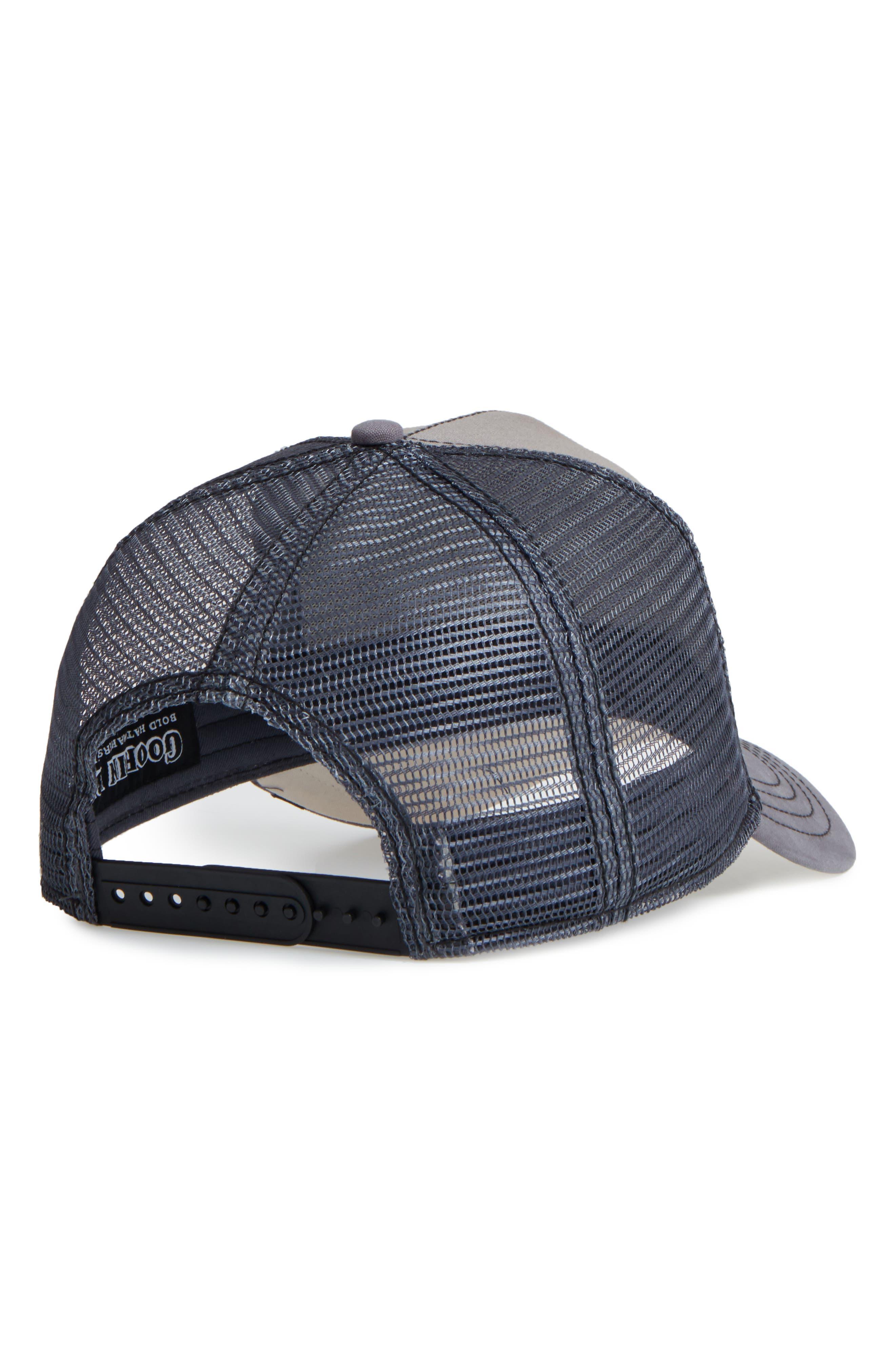 'Shades of Black' Mesh Trucker Hat,                             Alternate thumbnail 2, color,                             GREY