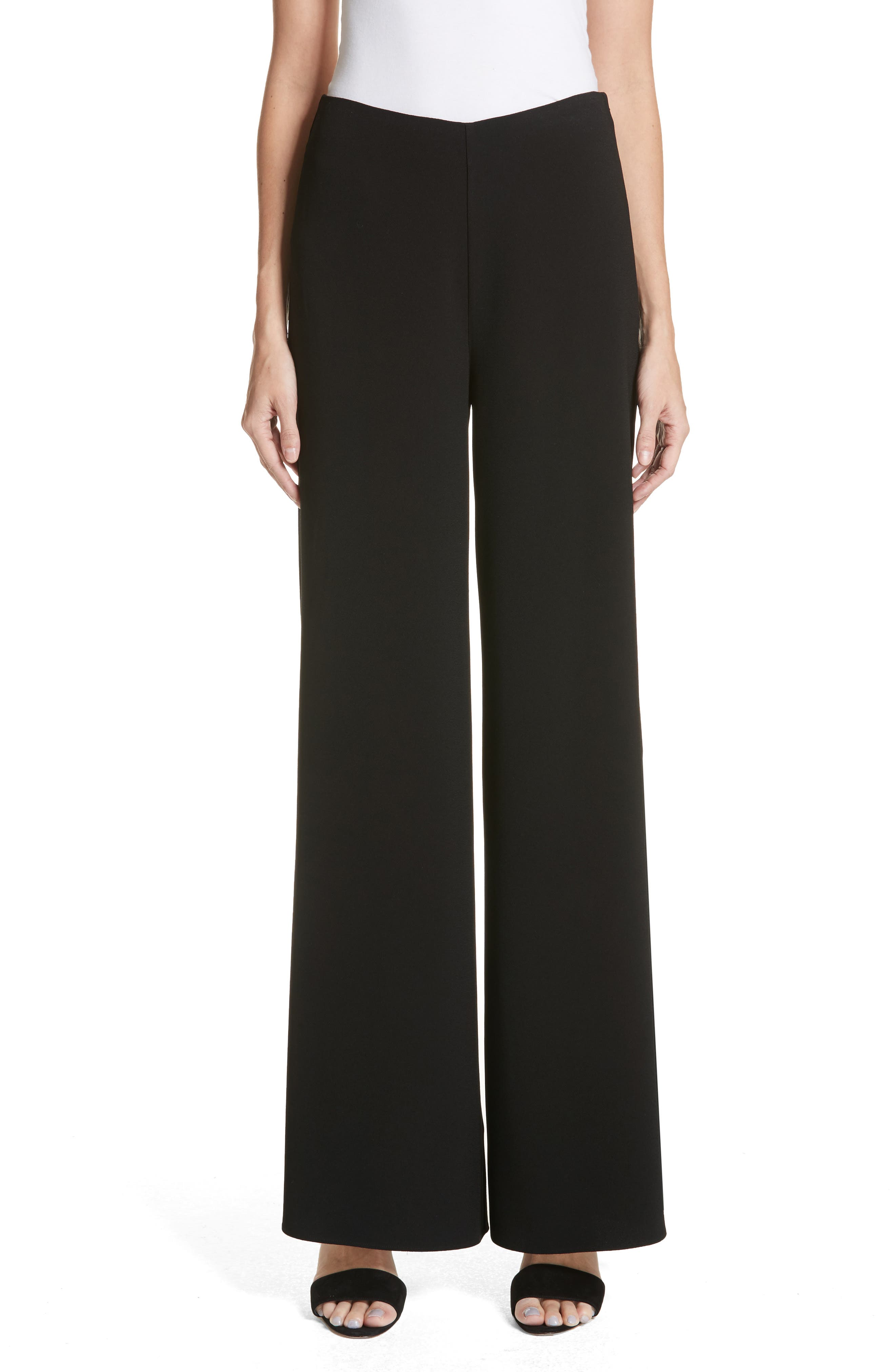 Wide Leg Pants,                         Main,                         color, BLACK