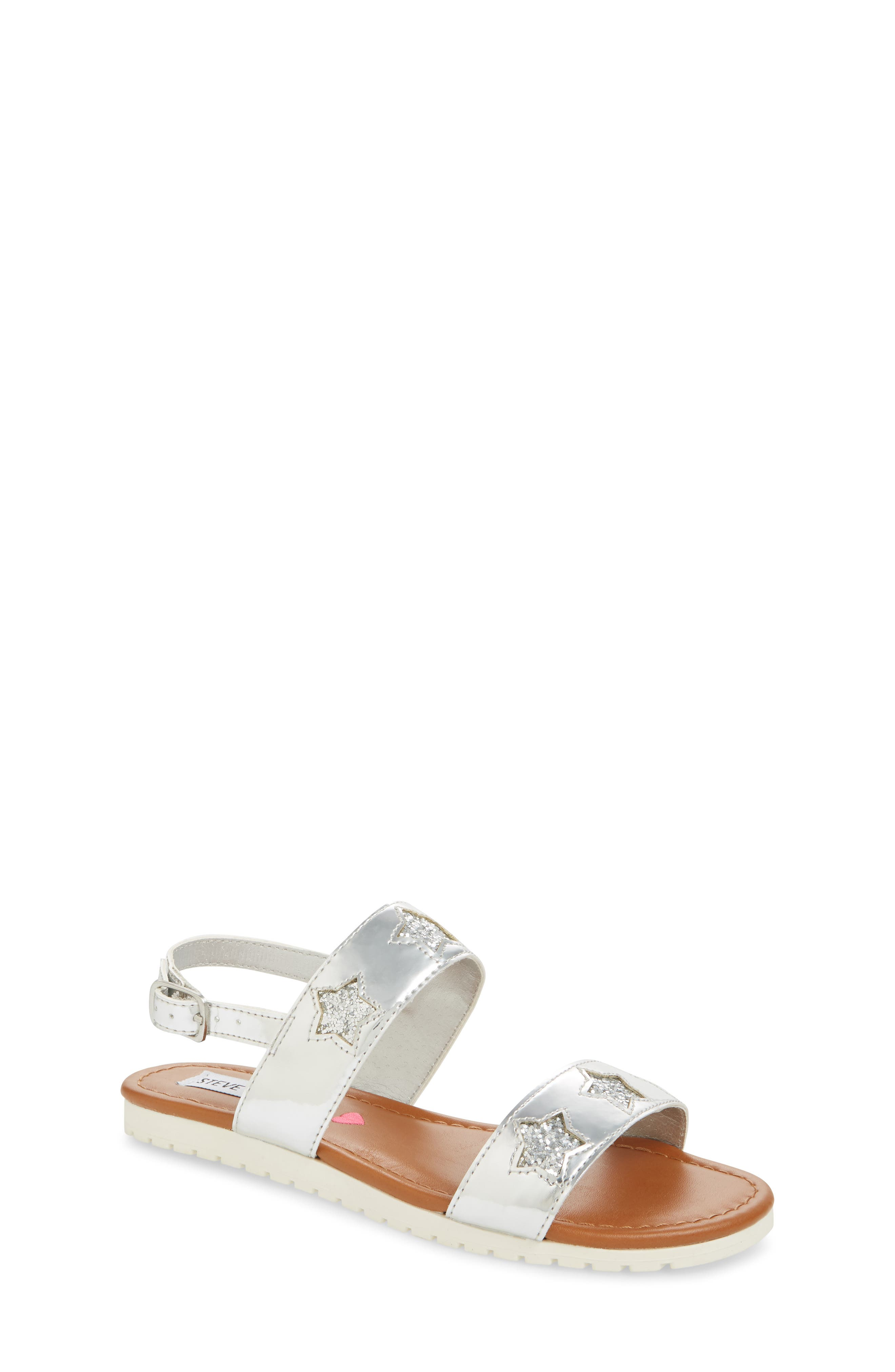 Adventure Glitter Sandal,                         Main,                         color, SILVER