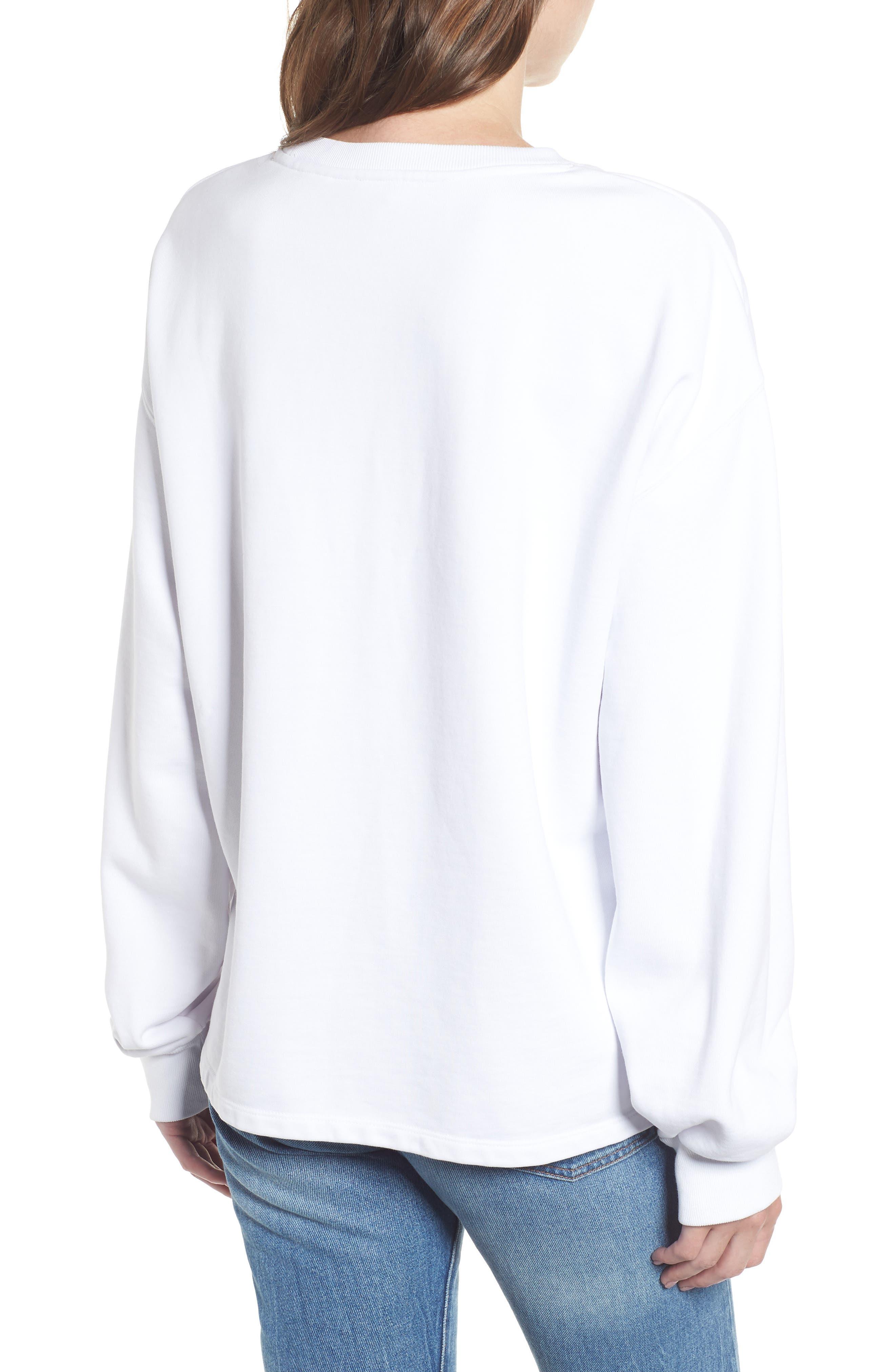 Logo Big Sleeve Sweatshirt,                             Alternate thumbnail 2, color,                             SPORTSWEAR LOGO CREW WHITE