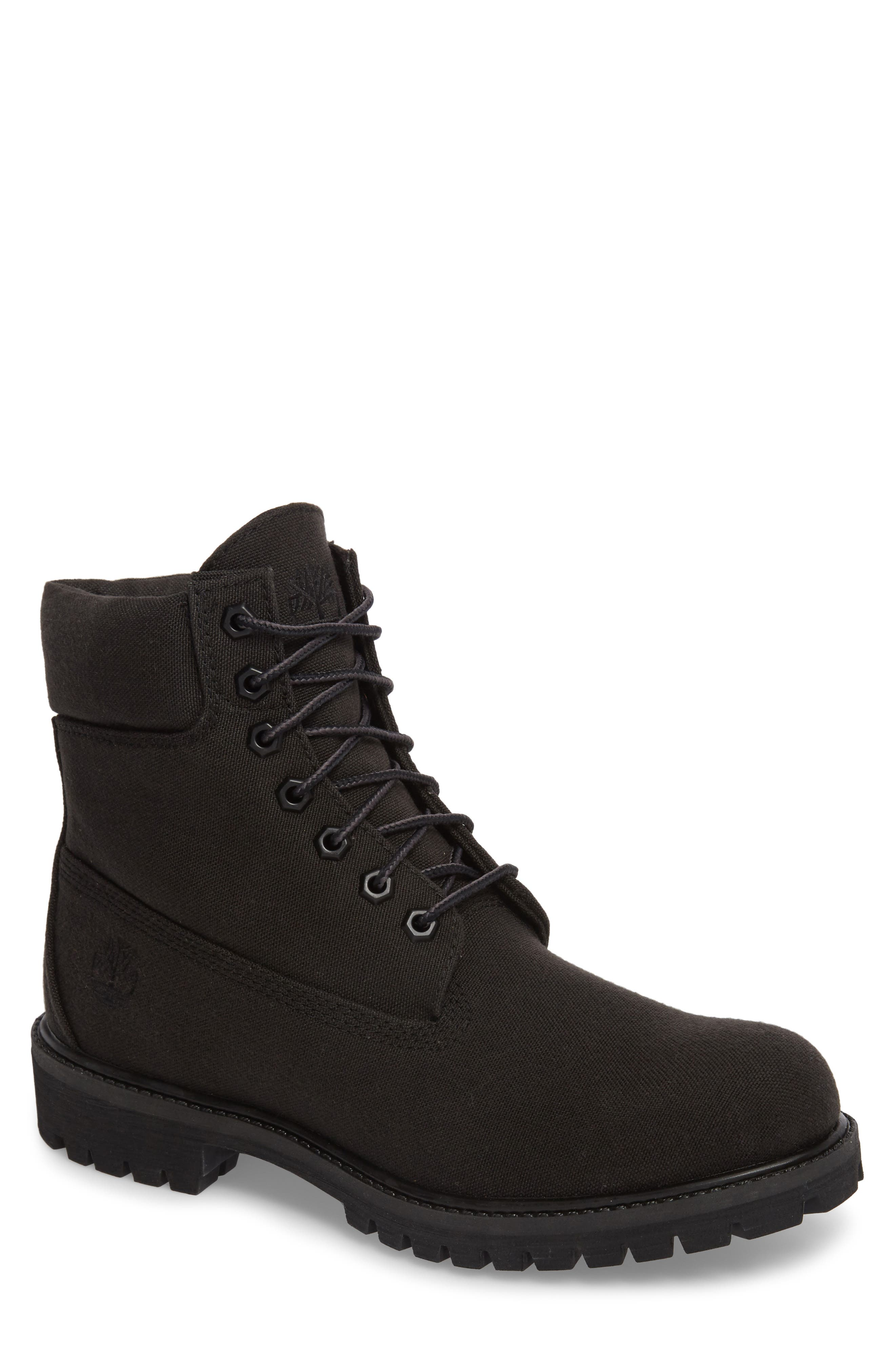 Six Inch Premium Canvas Boot,                         Main,                         color, 001